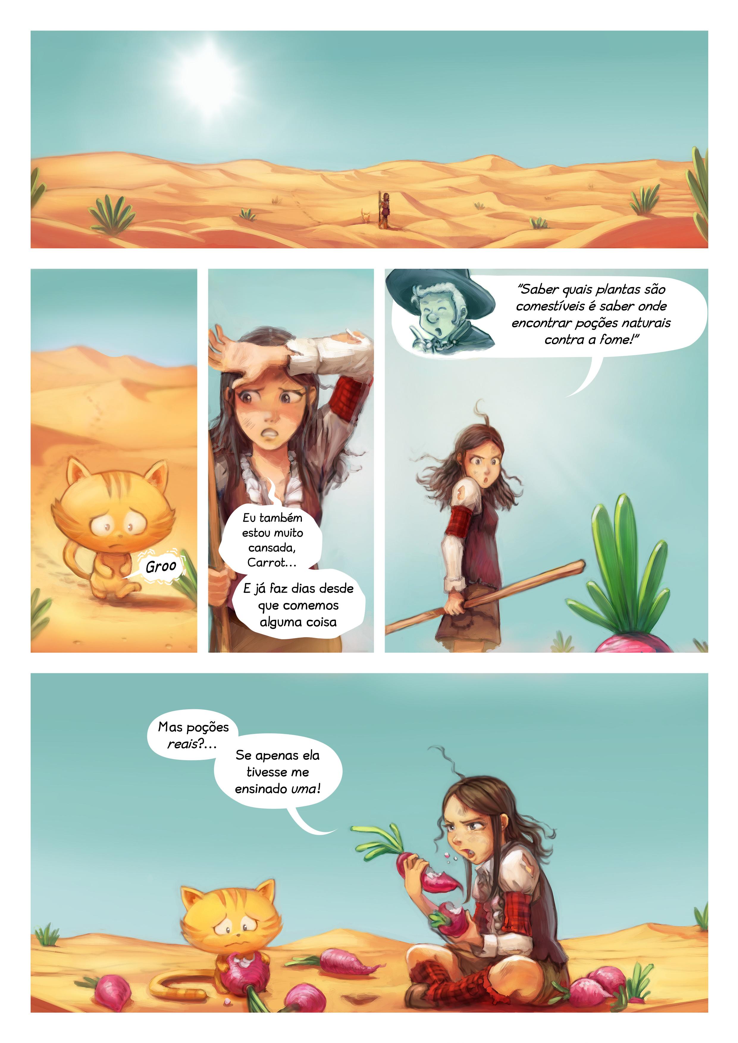 A webcomic page of Pepper&Carrot, episódio 17 [pt], página 5