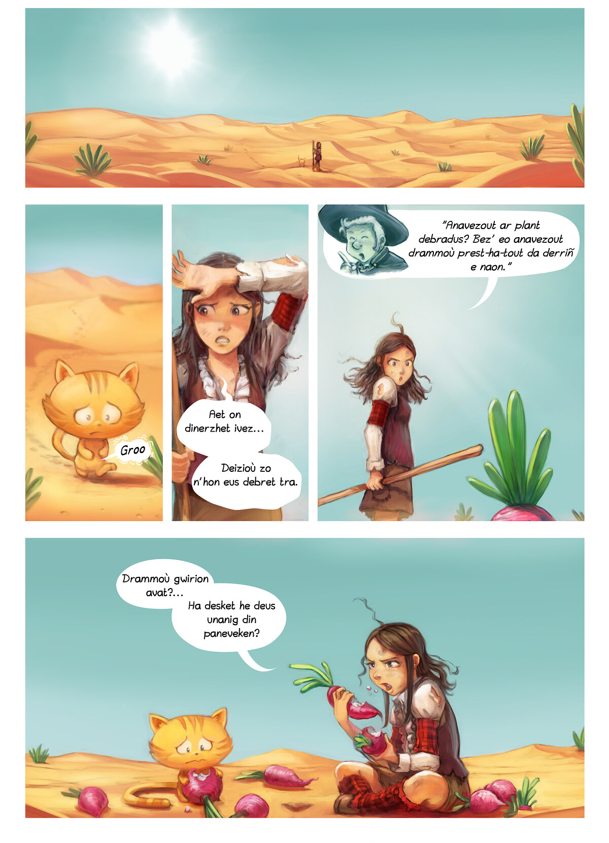 A webcomic page of Pepper&Carrot, rann 17 [br], pajenn 5