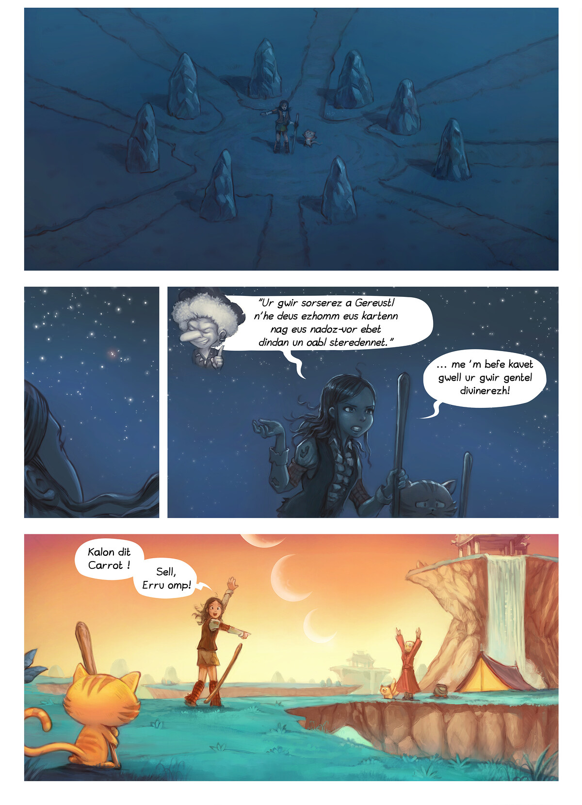 A webcomic page of Pepper&Carrot, rann 17 [br], pajenn 6