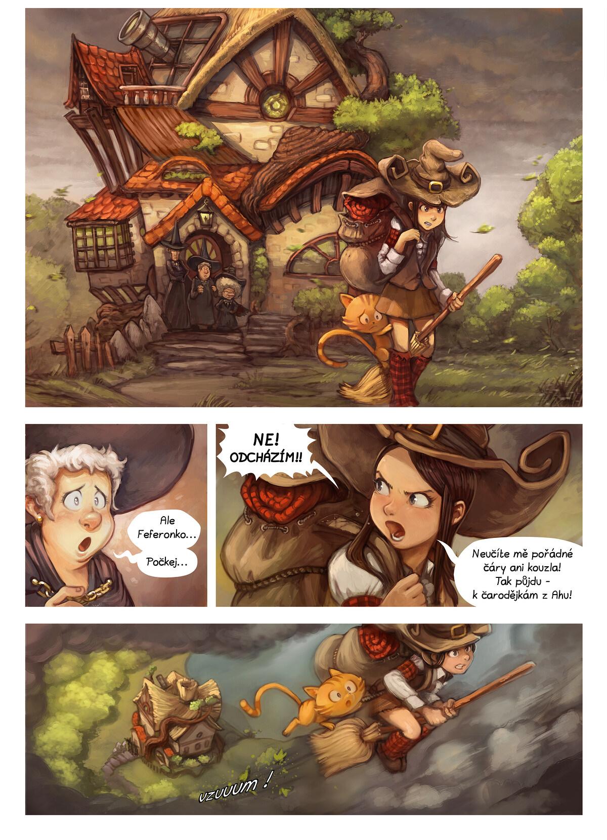 A webcomic page of Pepper&Carrot, epizoda 17 [cs], strana 1