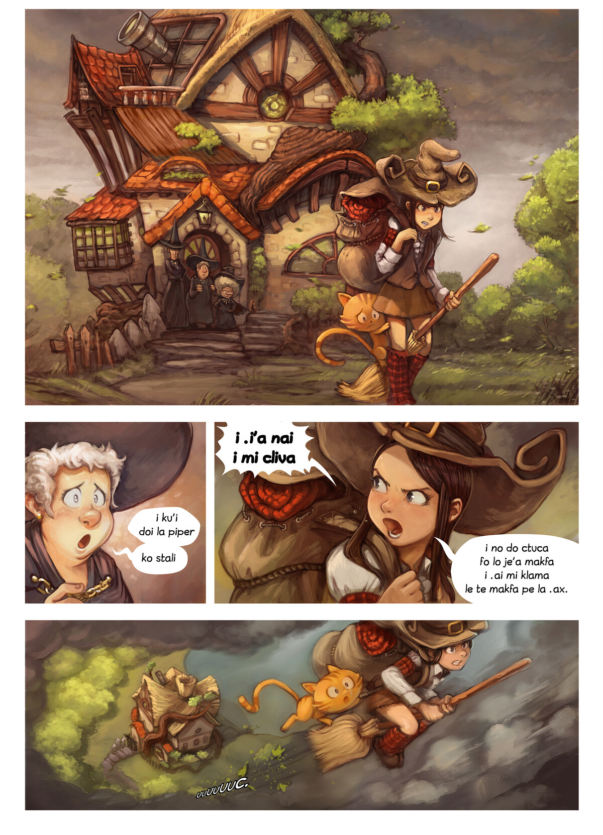 A webcomic page of Pepper&Carrot, pagbu 17 [jb], papri 1