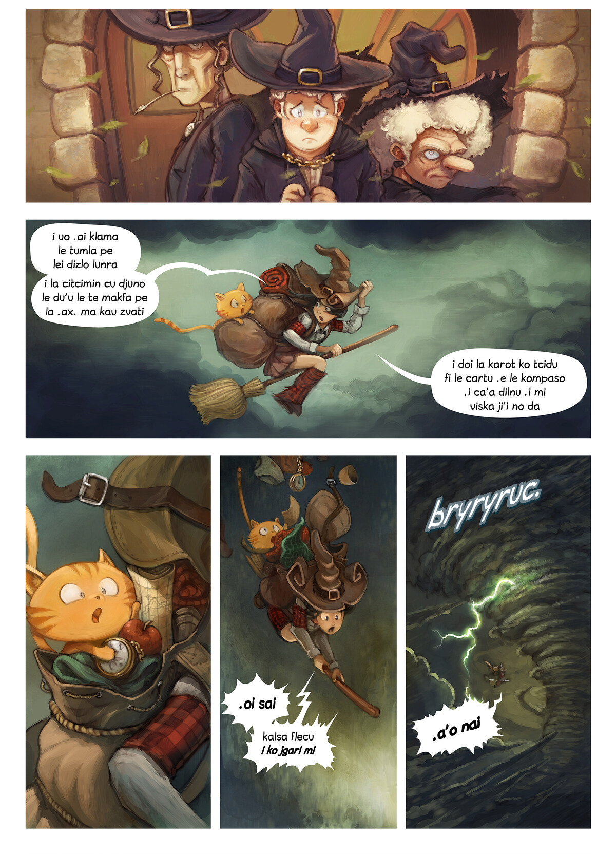 A webcomic page of Pepper&Carrot, pagbu 17 [jb], papri 2