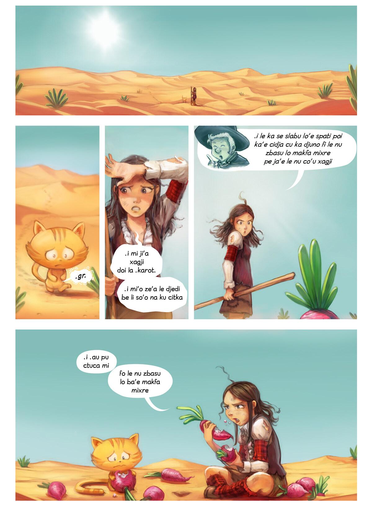 A webcomic page of Pepper&Carrot, pagbu 17 [jb], papri 5