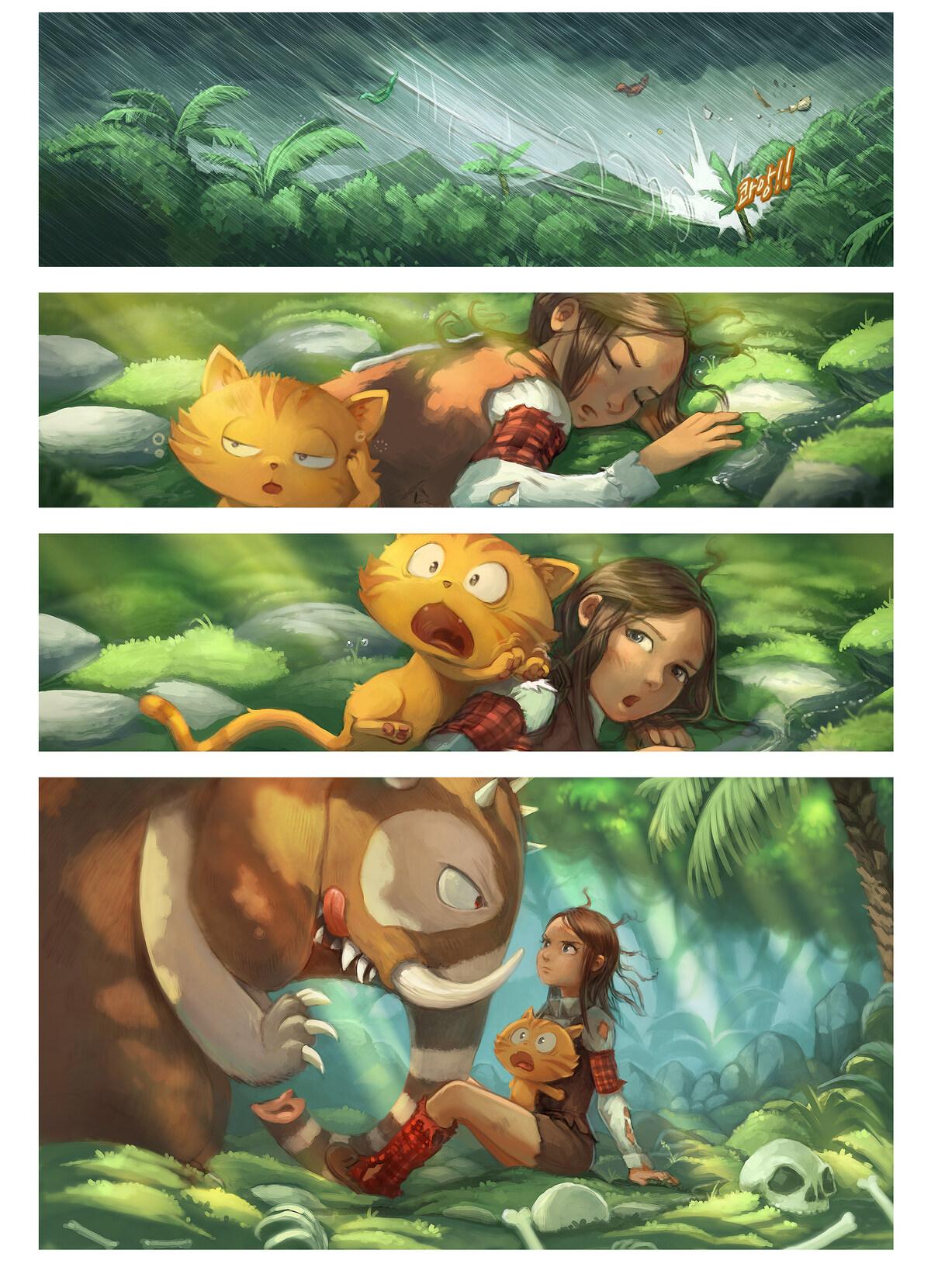 A webcomic page of Pepper&Carrot, 에피소드 17 [kr], 페이지 3