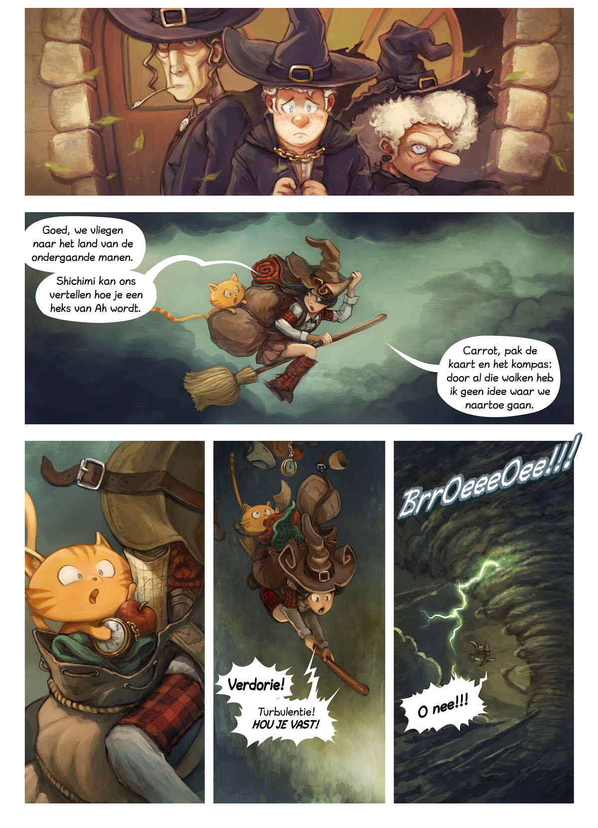 A webcomic page of Pepper&Carrot, aflevering 17 [nl], pagina 2