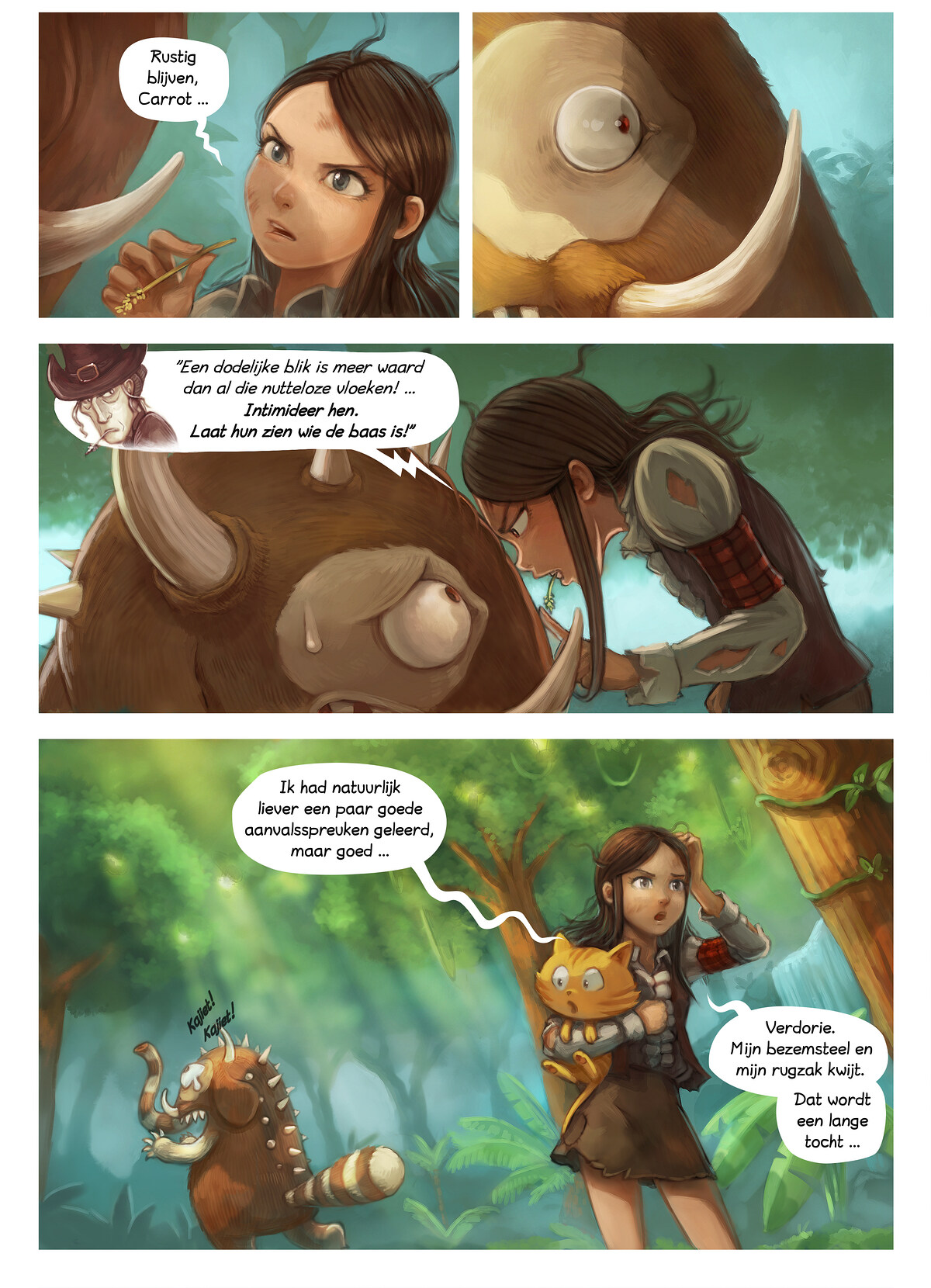 A webcomic page of Pepper&Carrot, aflevering 17 [nl], pagina 4