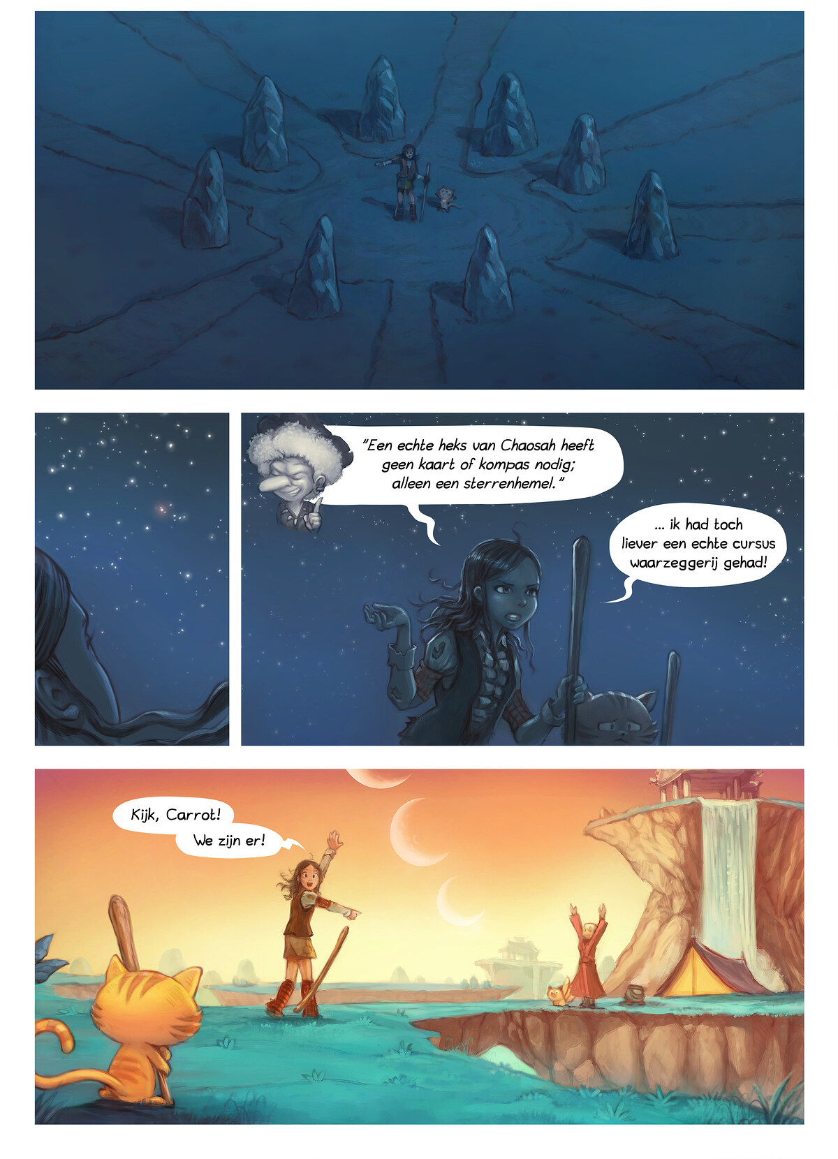 A webcomic page of Pepper&Carrot, aflevering 17 [nl], pagina 6
