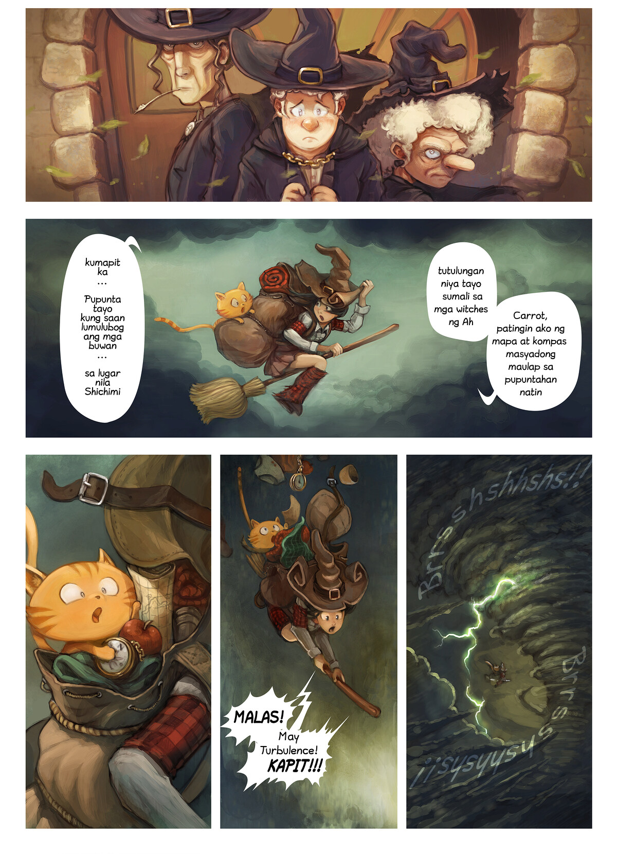 A webcomic page of Pepper&Carrot, episode 17 [ph], page 2