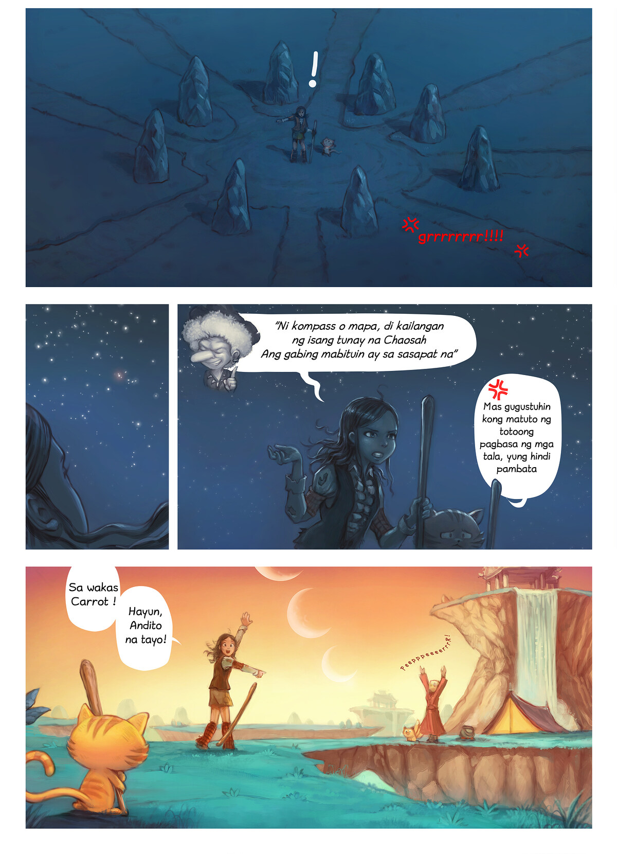 A webcomic page of Pepper&Carrot, episode 17 [ph], page 6