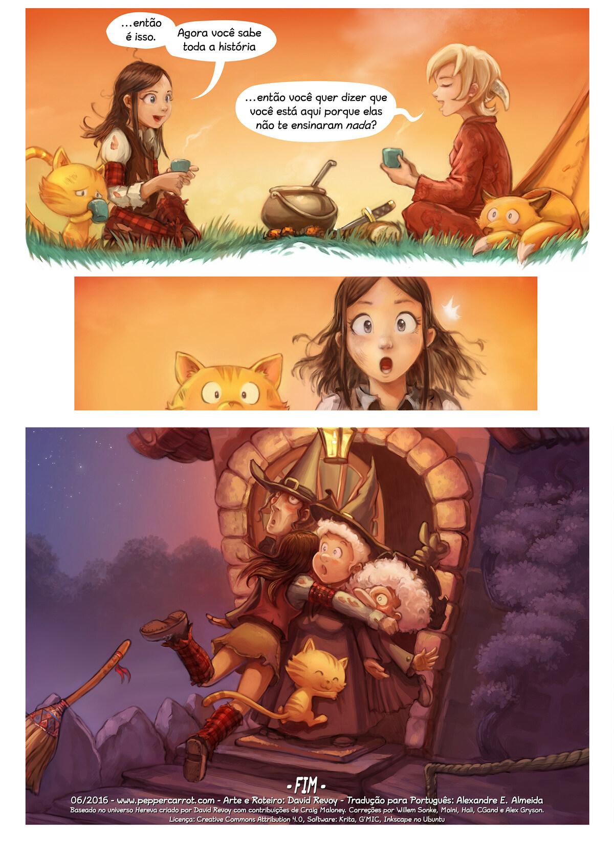 A webcomic page of Pepper&Carrot, episódio 17 [pt], página 7