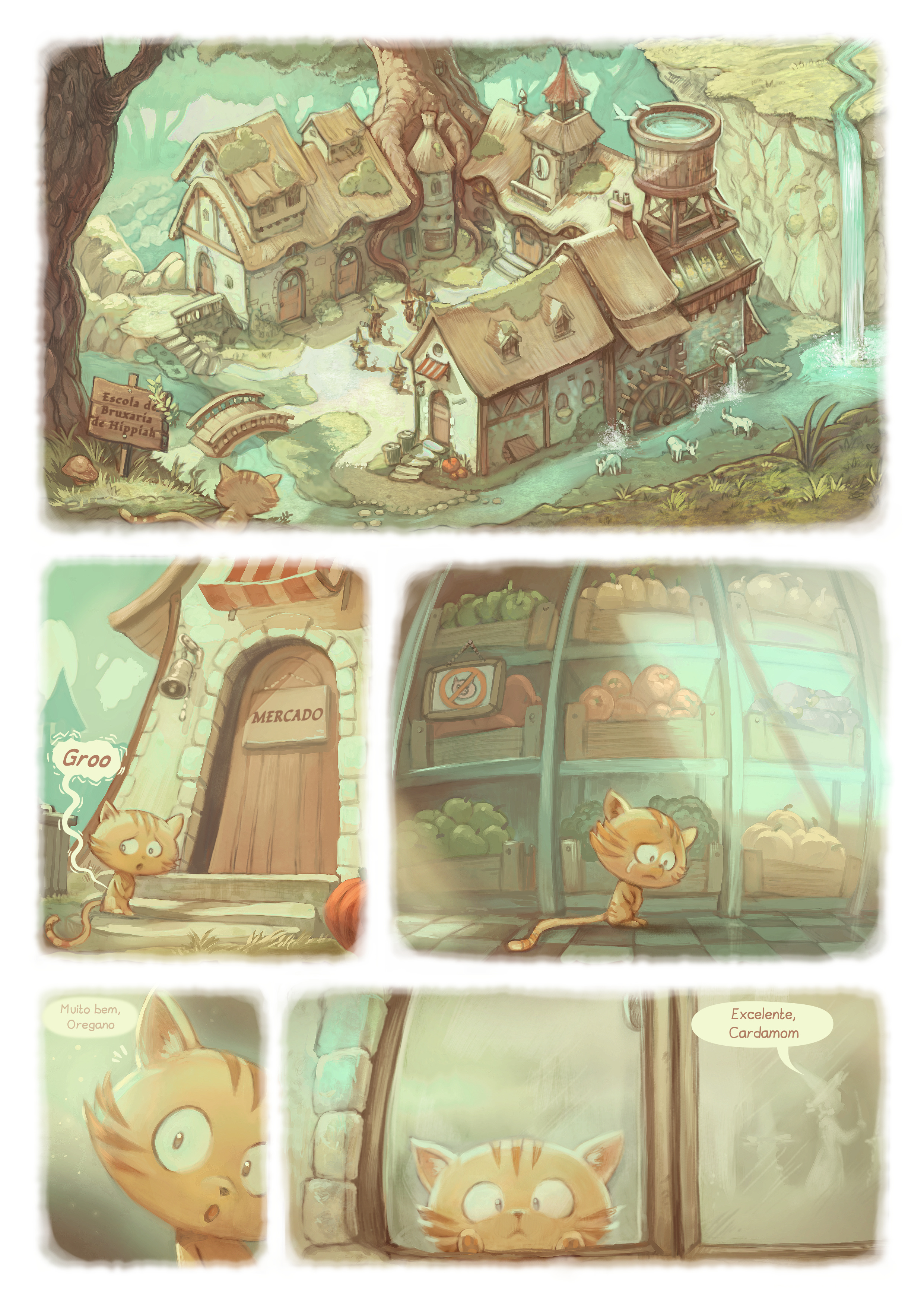 A webcomic page of Pepper&Carrot, episódio 18 [pt], página 2