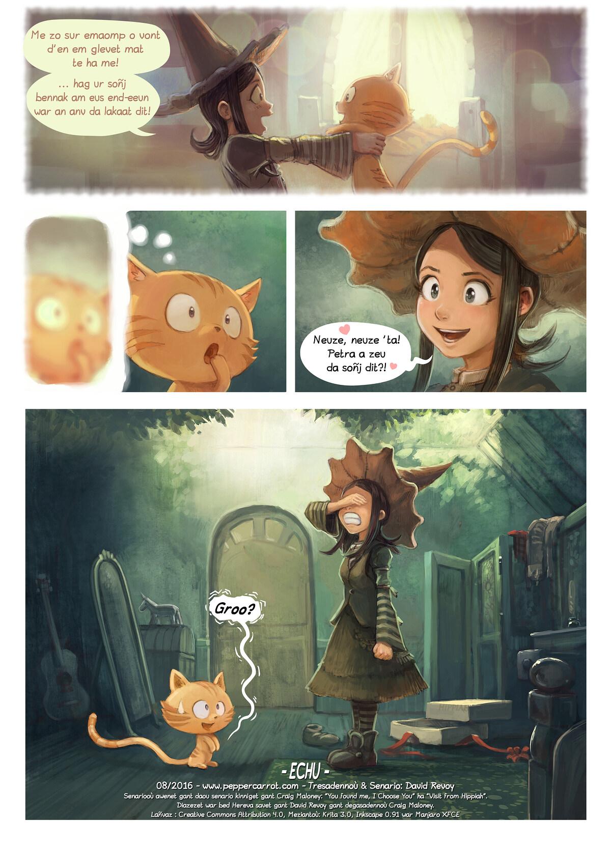 A webcomic page of Pepper&Carrot, rann 18 [br], pajenn 7