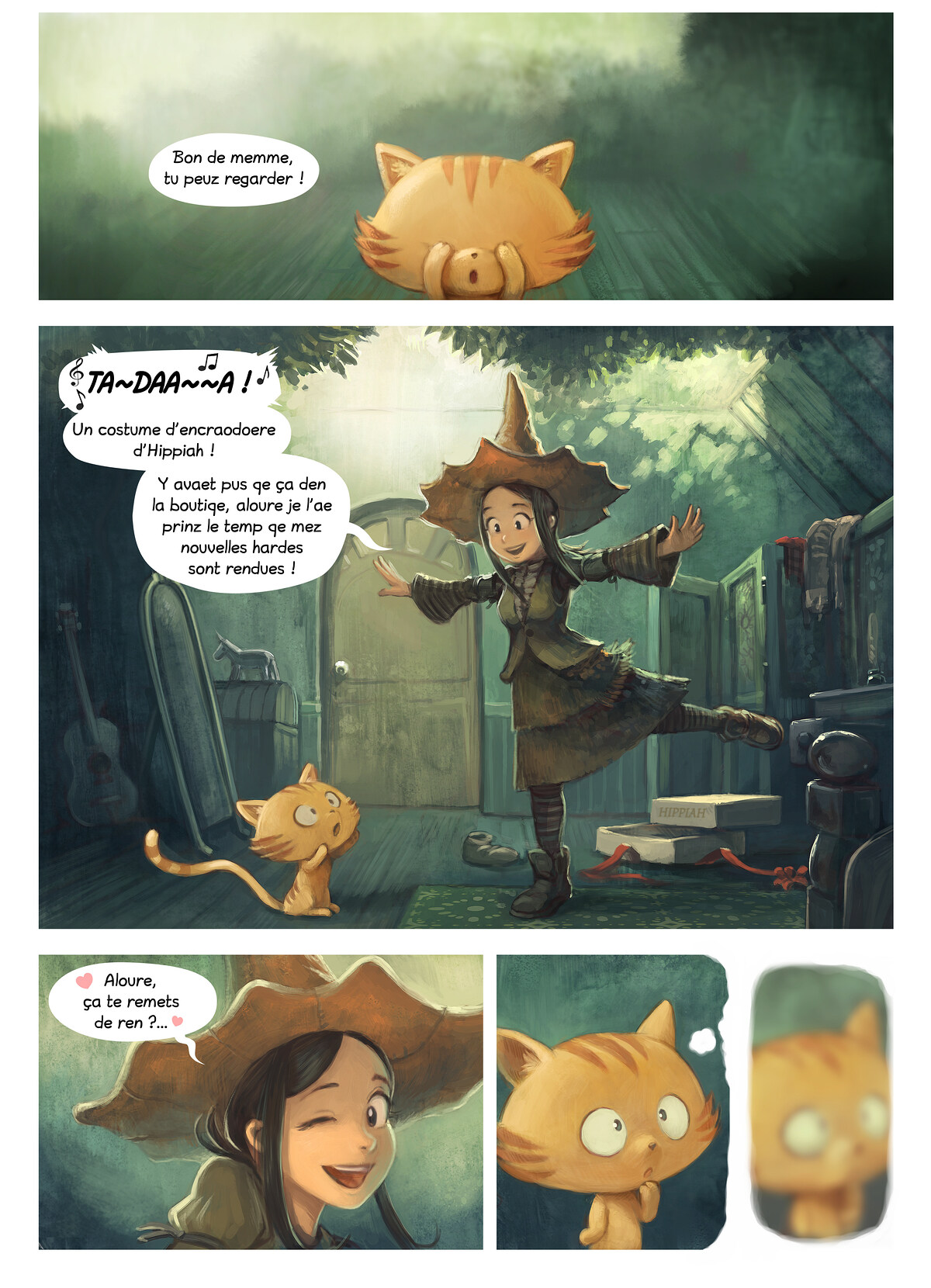 A webcomic page of Pepper&Carrot, episode 18 [go], page 1