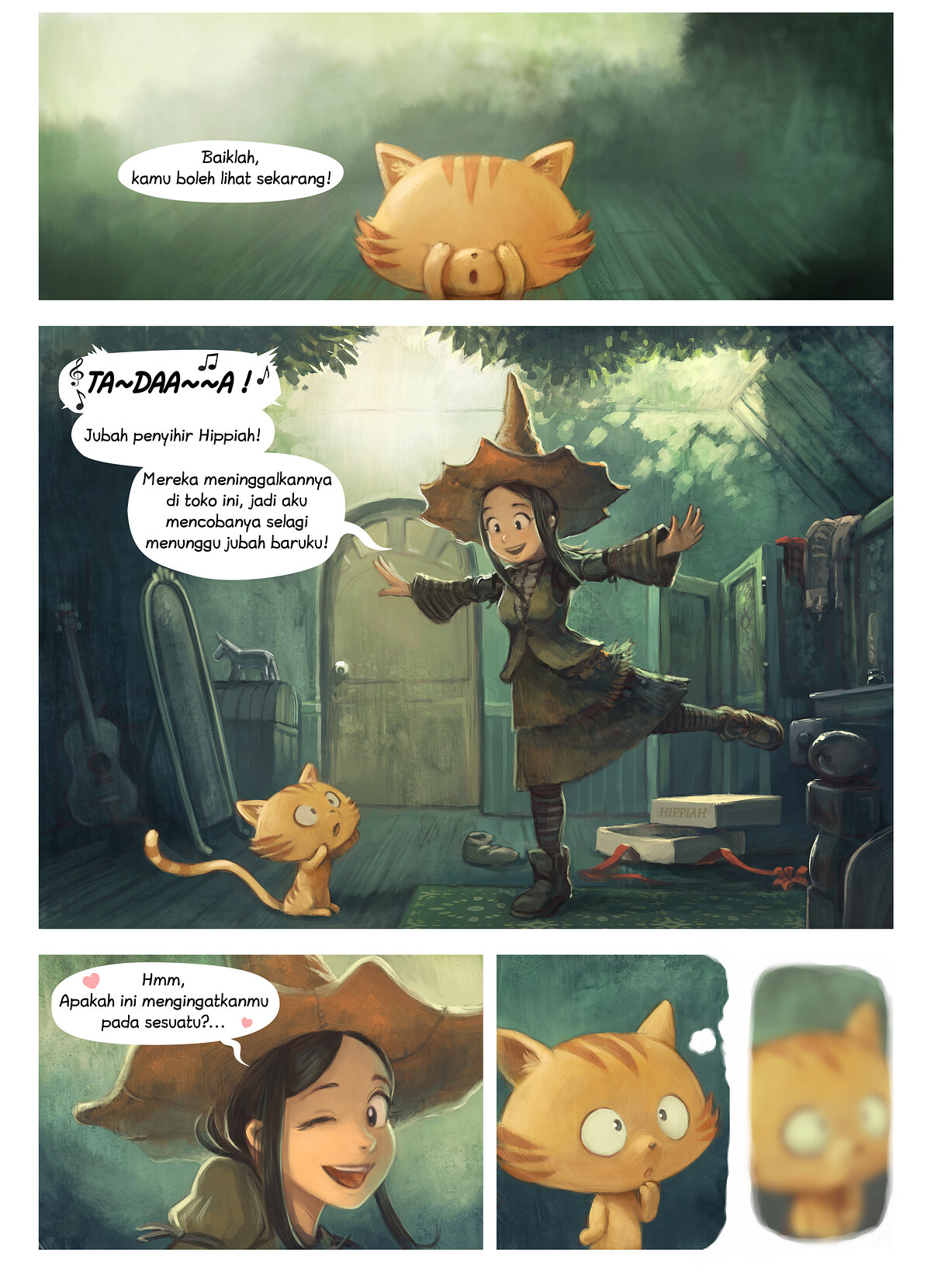 A webcomic page of Pepper&Carrot, episode 18 [id], halaman 1