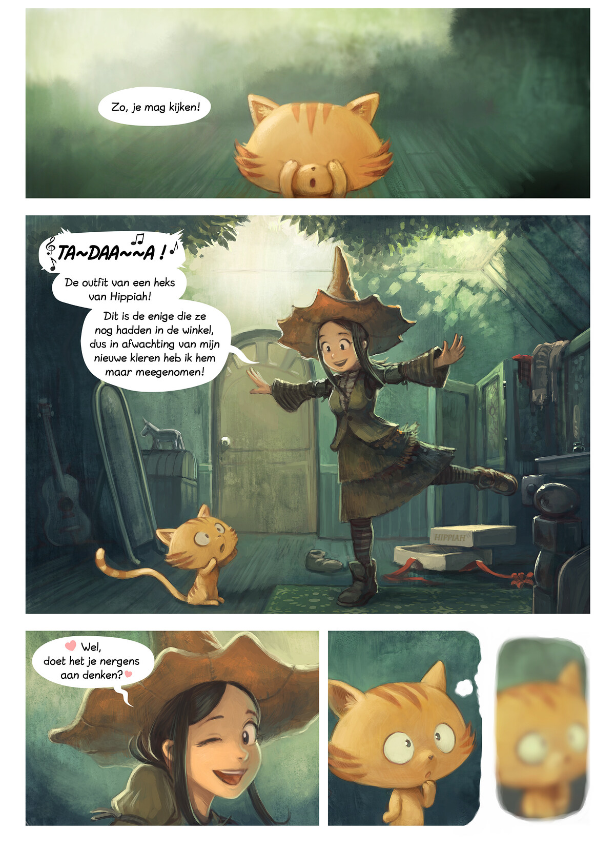 A webcomic page of Pepper&Carrot, aflevering 18 [nl], pagina 1