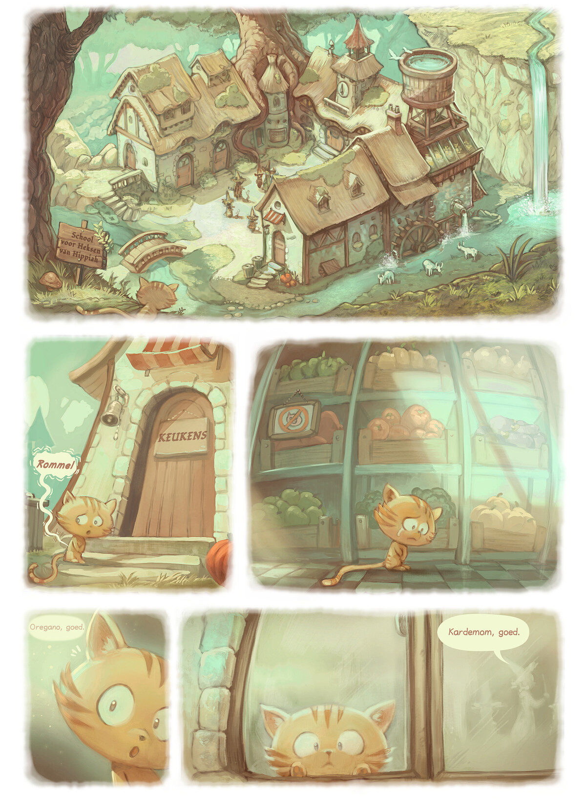A webcomic page of Pepper&Carrot, aflevering 18 [nl], pagina 2