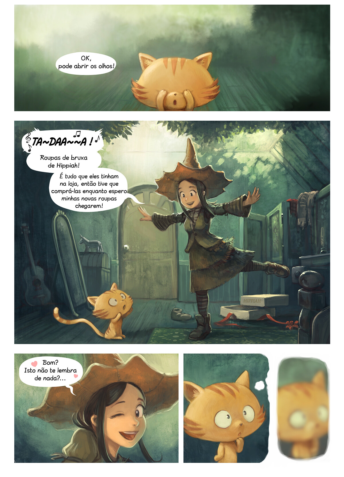 A webcomic page of Pepper&Carrot, episódio 18 [pt], página 1
