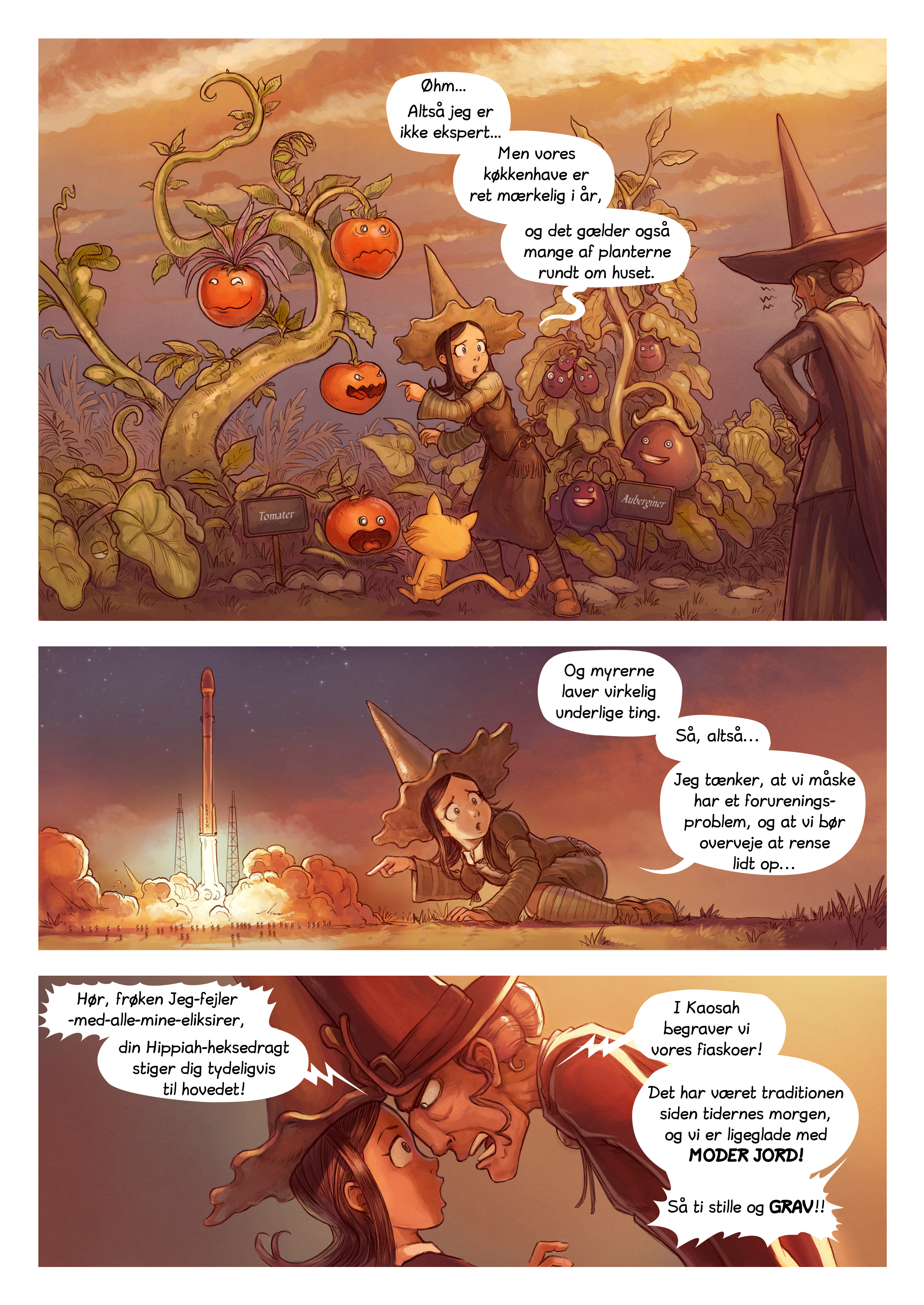 A webcomic page of Pepper&Carrot, episode 19 [da], page 2