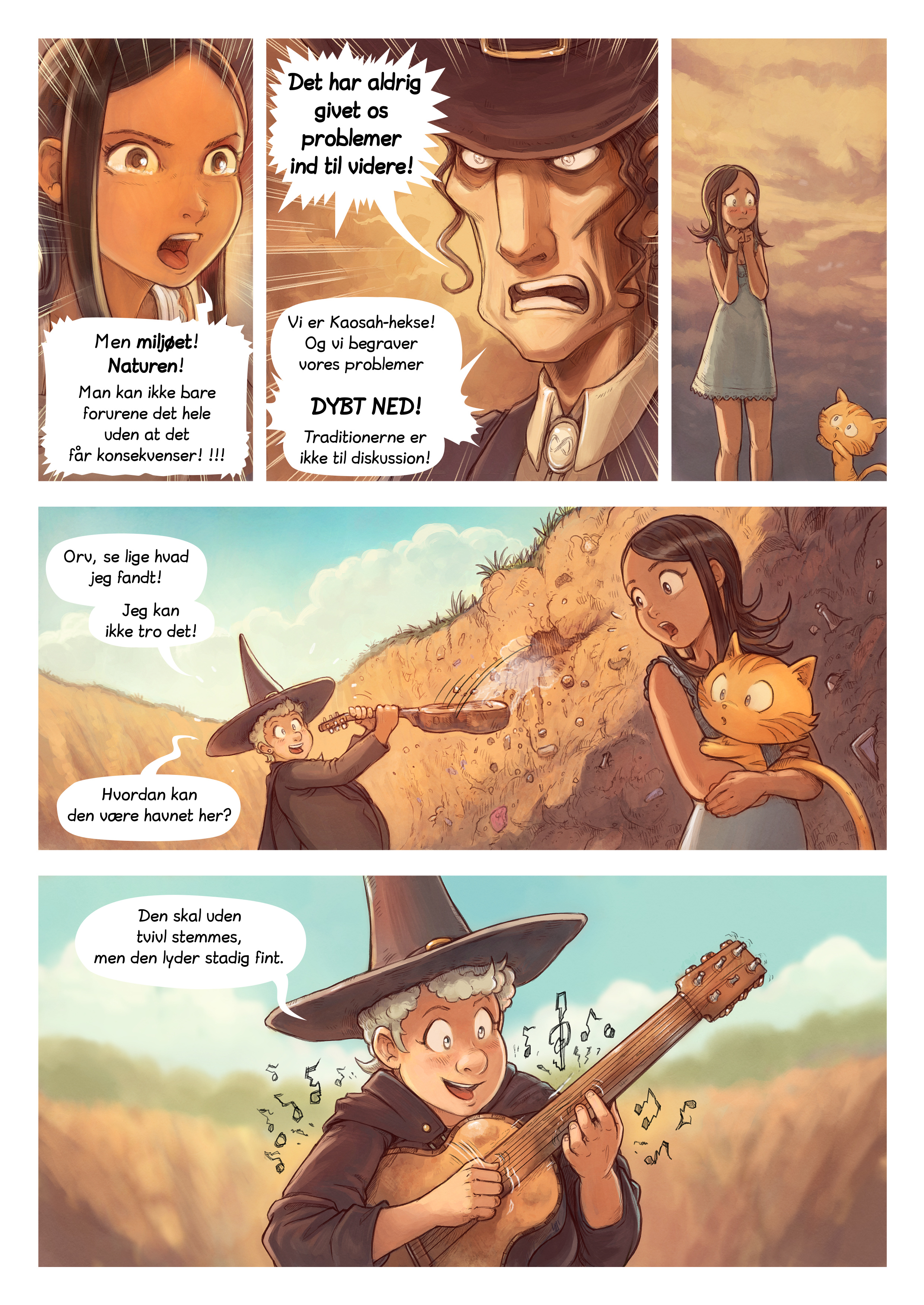 A webcomic page of Pepper&Carrot, episode 19 [da], page 6