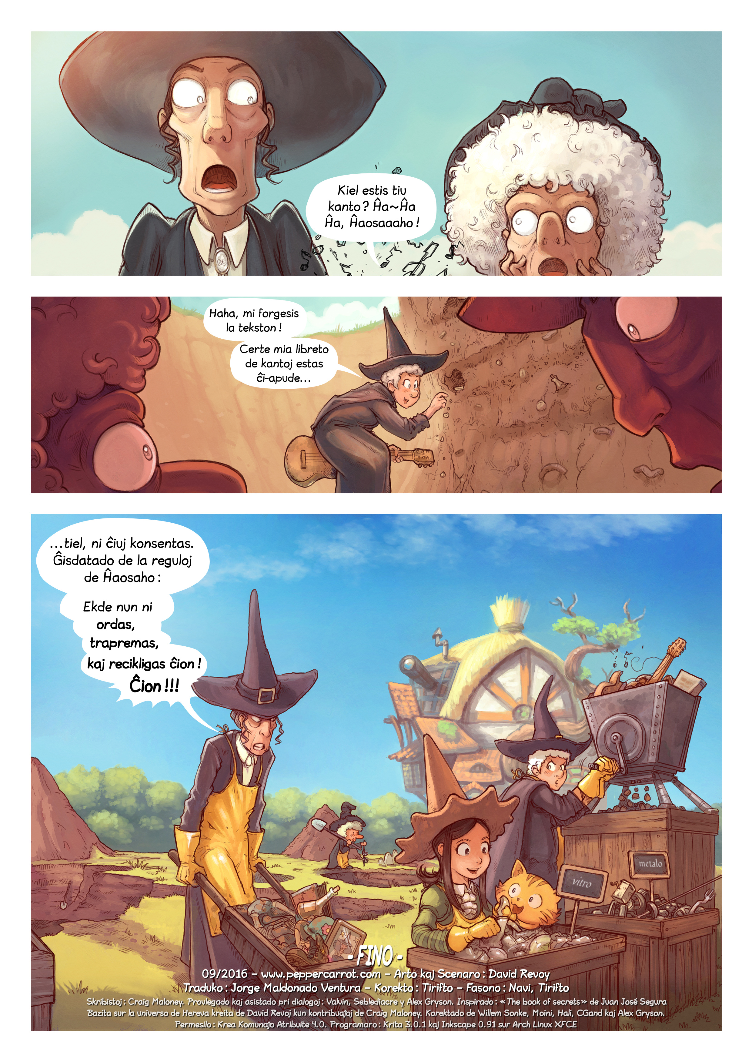 A webcomic page of Pepper&Carrot, rakonto 19 [eo], paĝo 7