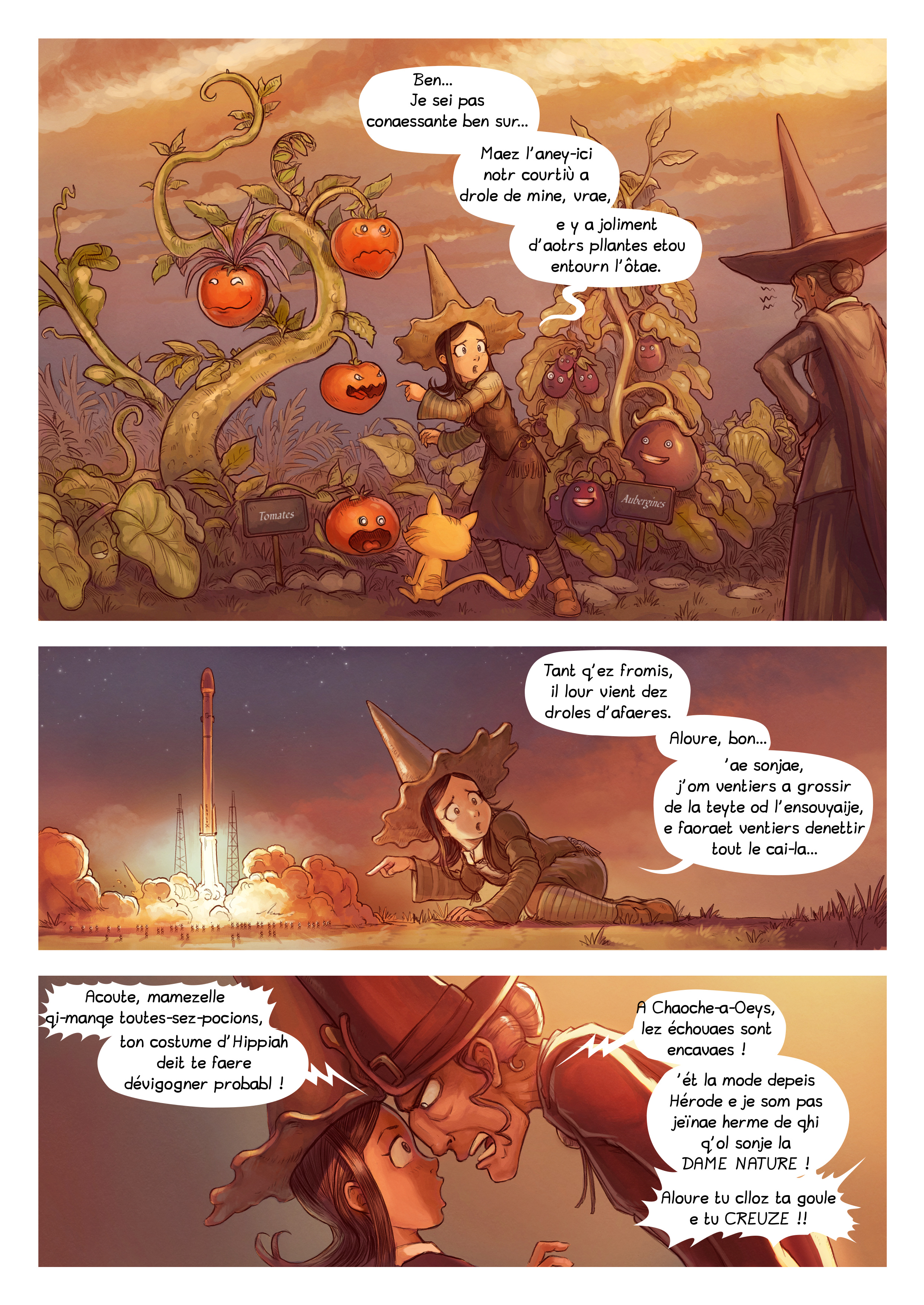 A webcomic page of Pepper&Carrot, episode 19 [go], page 2
