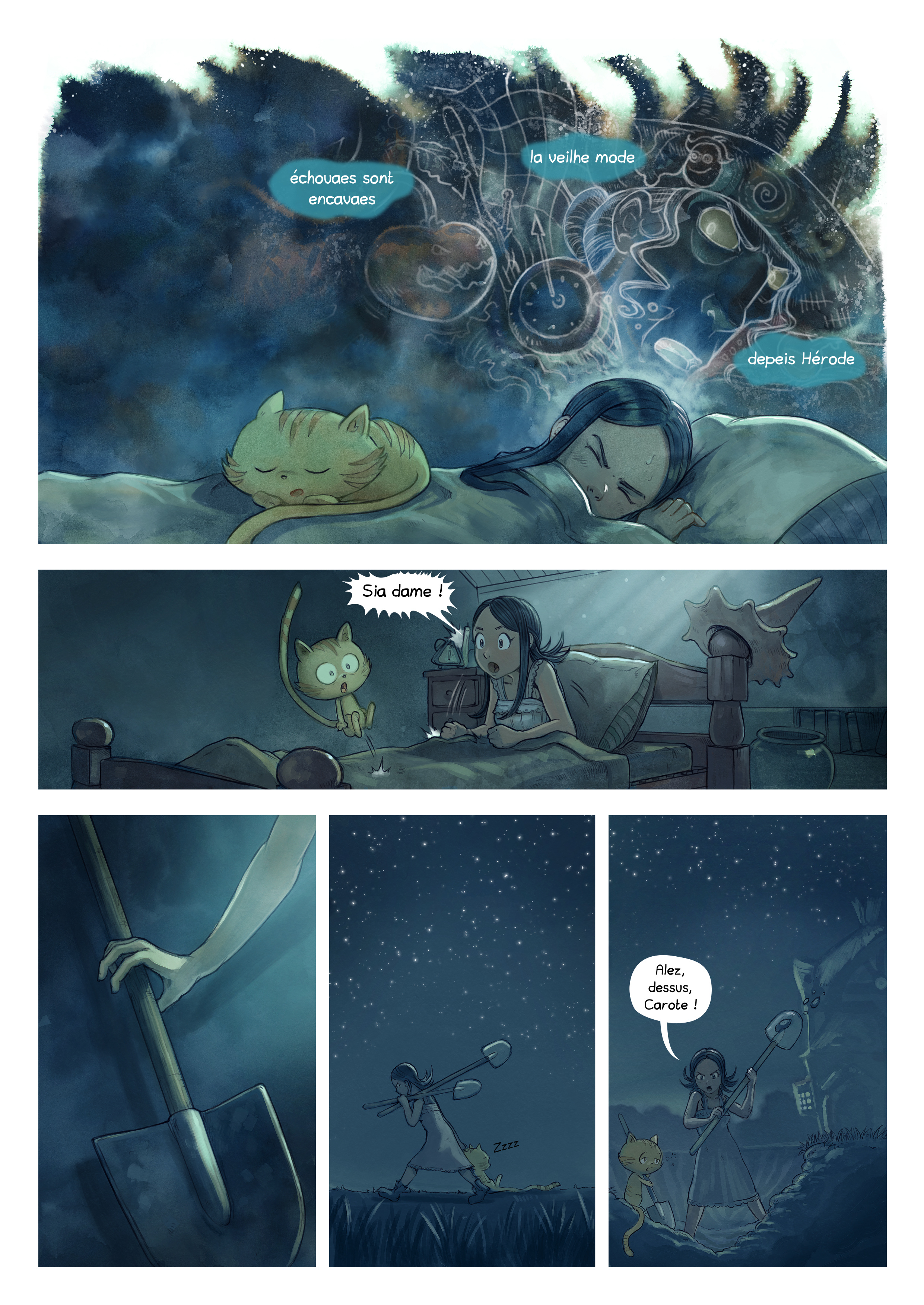 A webcomic page of Pepper&Carrot, episode 19 [go], page 3