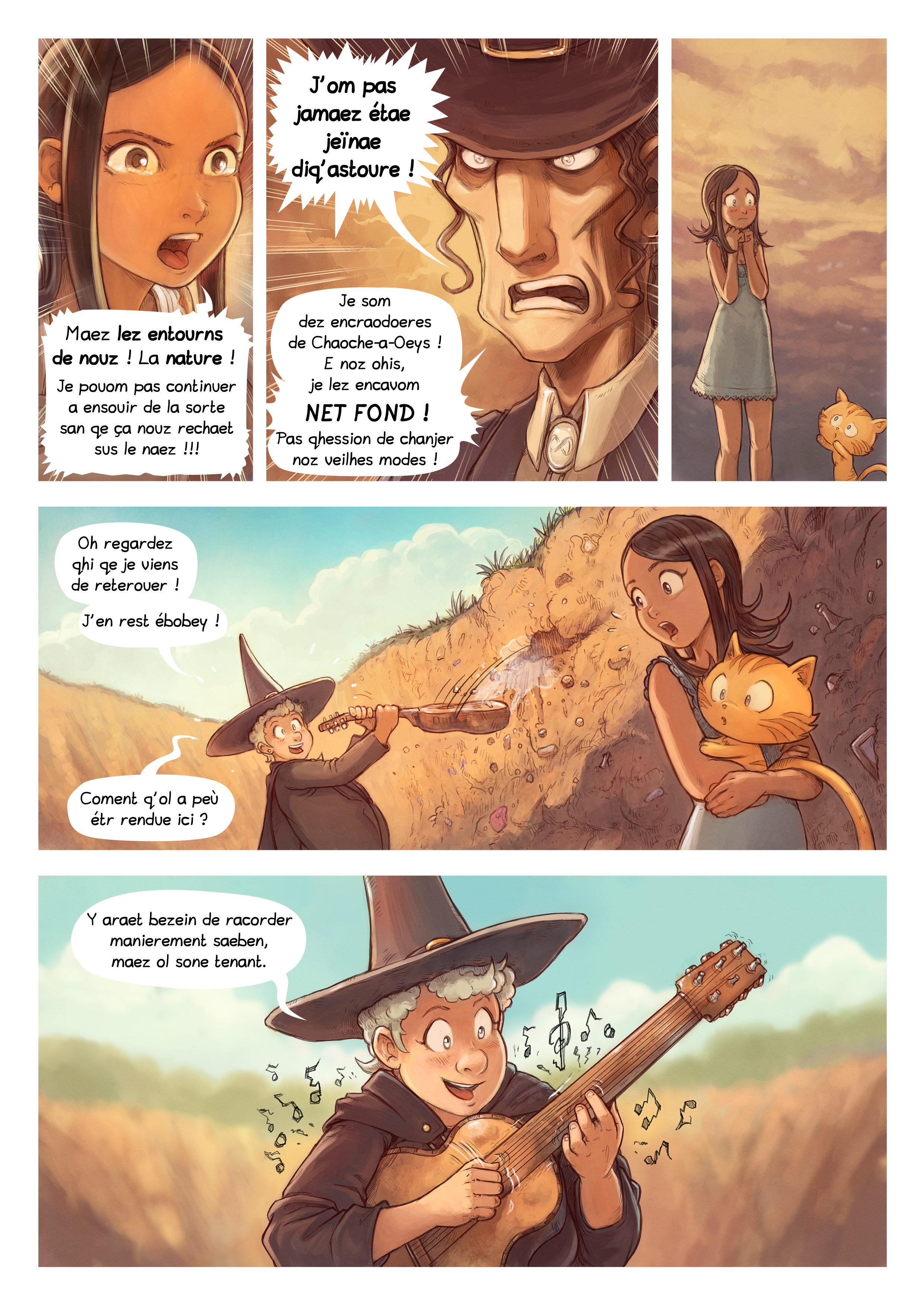 A webcomic page of Pepper&Carrot, episode 19 [go], page 6