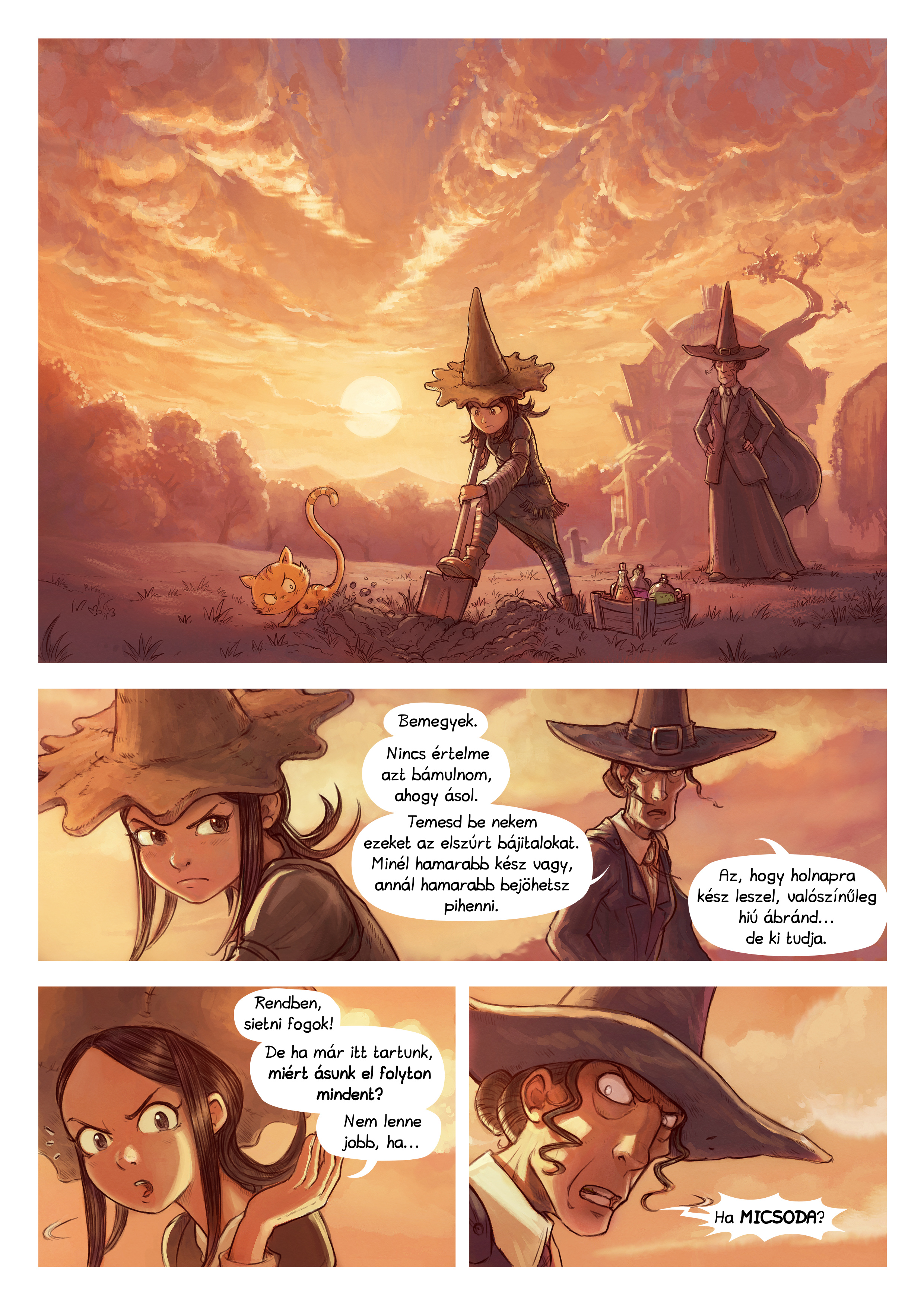 A webcomic page of Pepper&Carrot, epizód 19 [hu], oldal 1