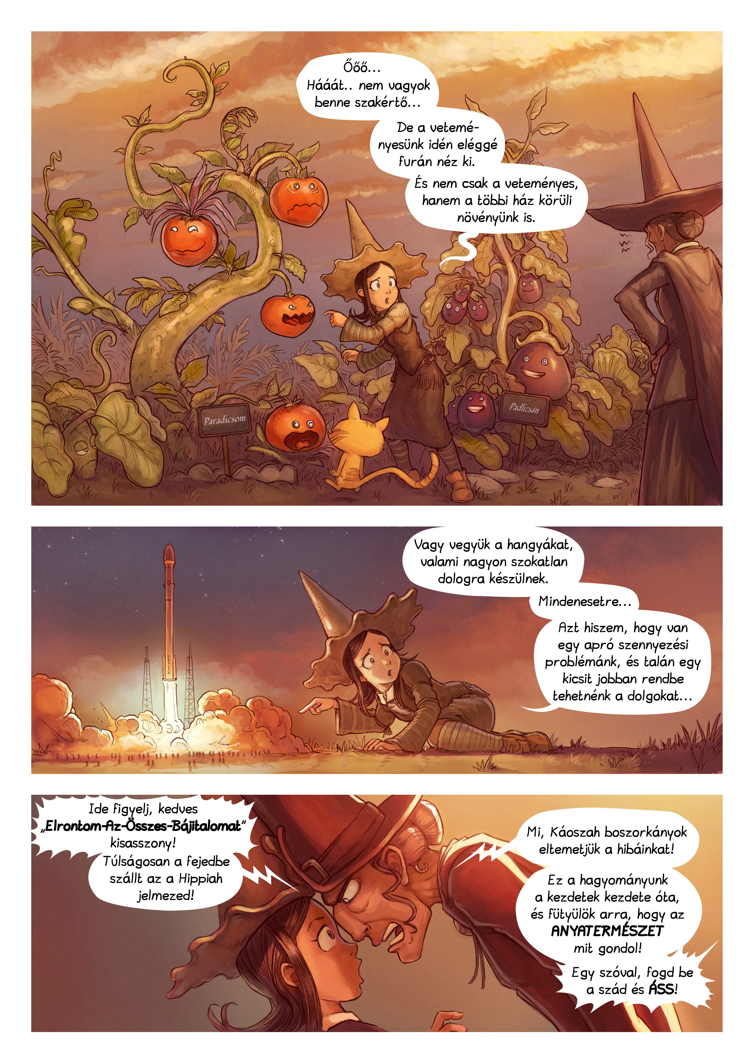 A webcomic page of Pepper&Carrot, epizód 19 [hu], oldal 2