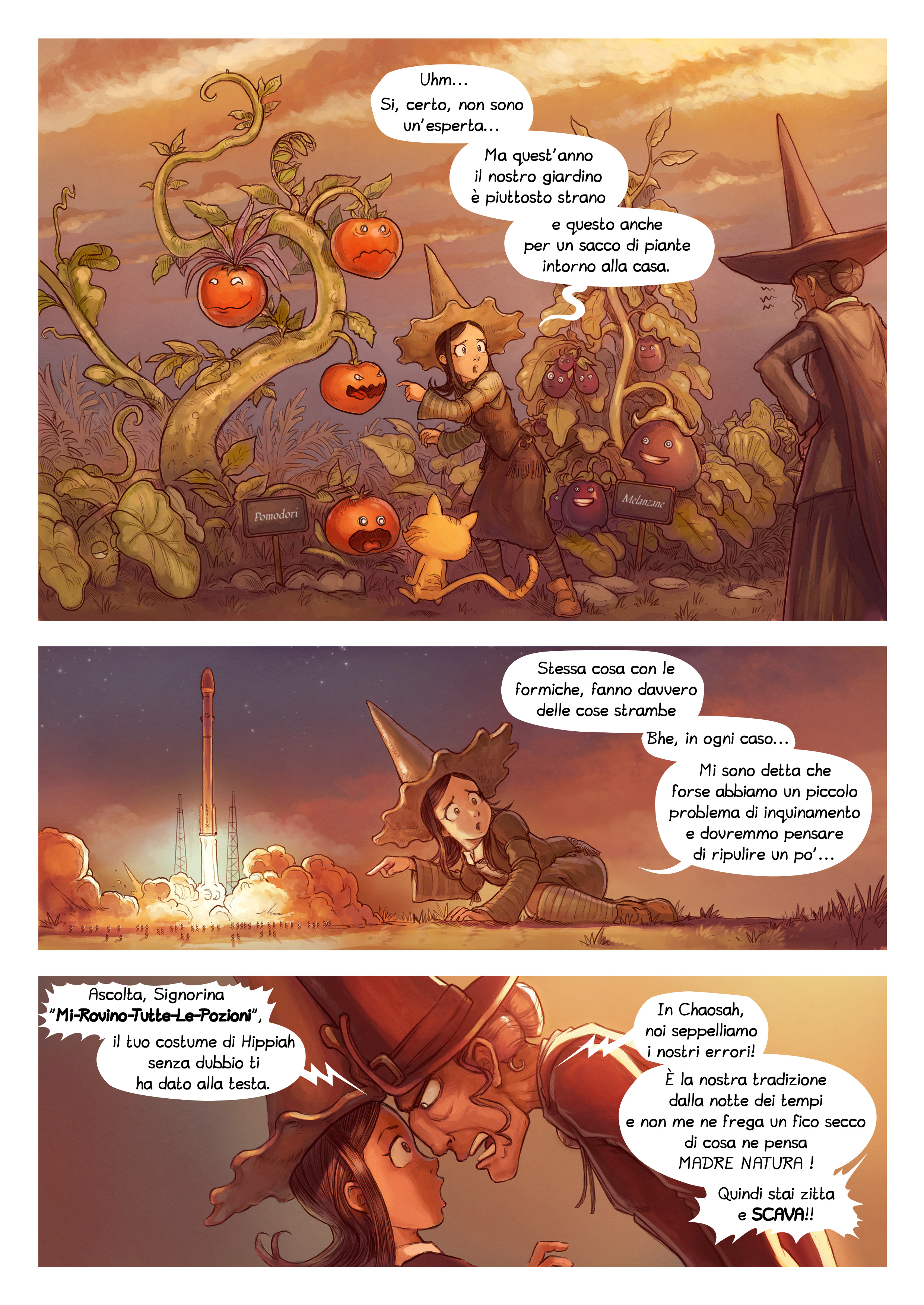 A webcomic page of Pepper&Carrot, episodio 19 [it], pagina 2