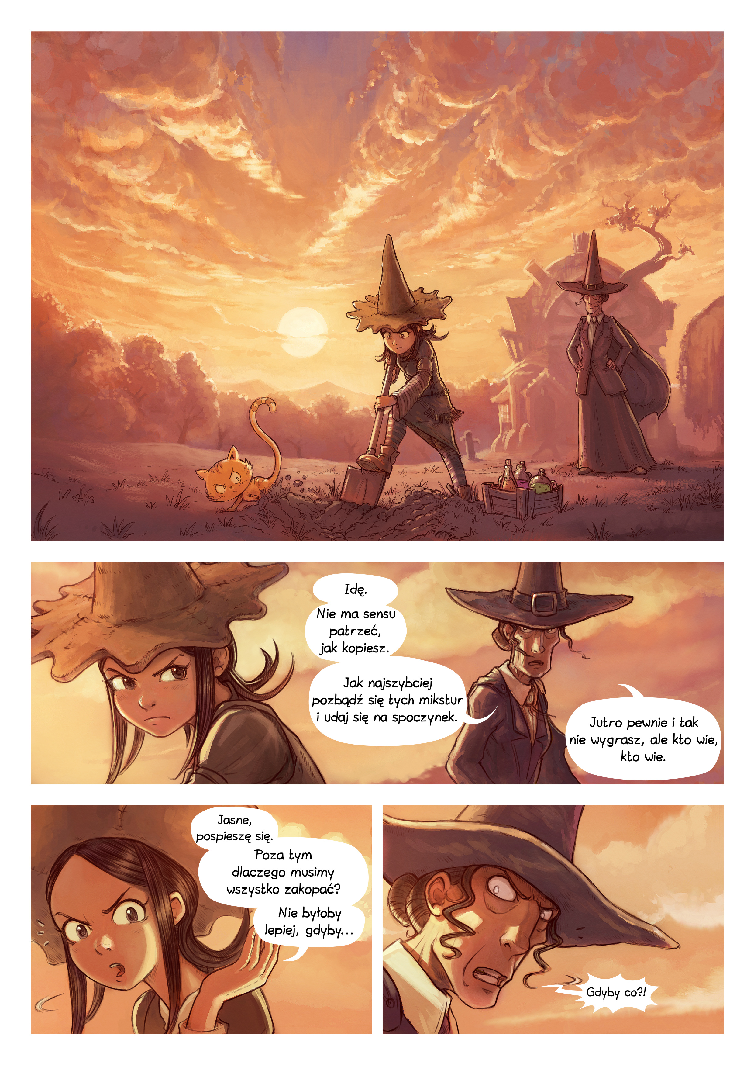 A webcomic page of Pepper&Carrot, odcinek 19 [pl], strona 1