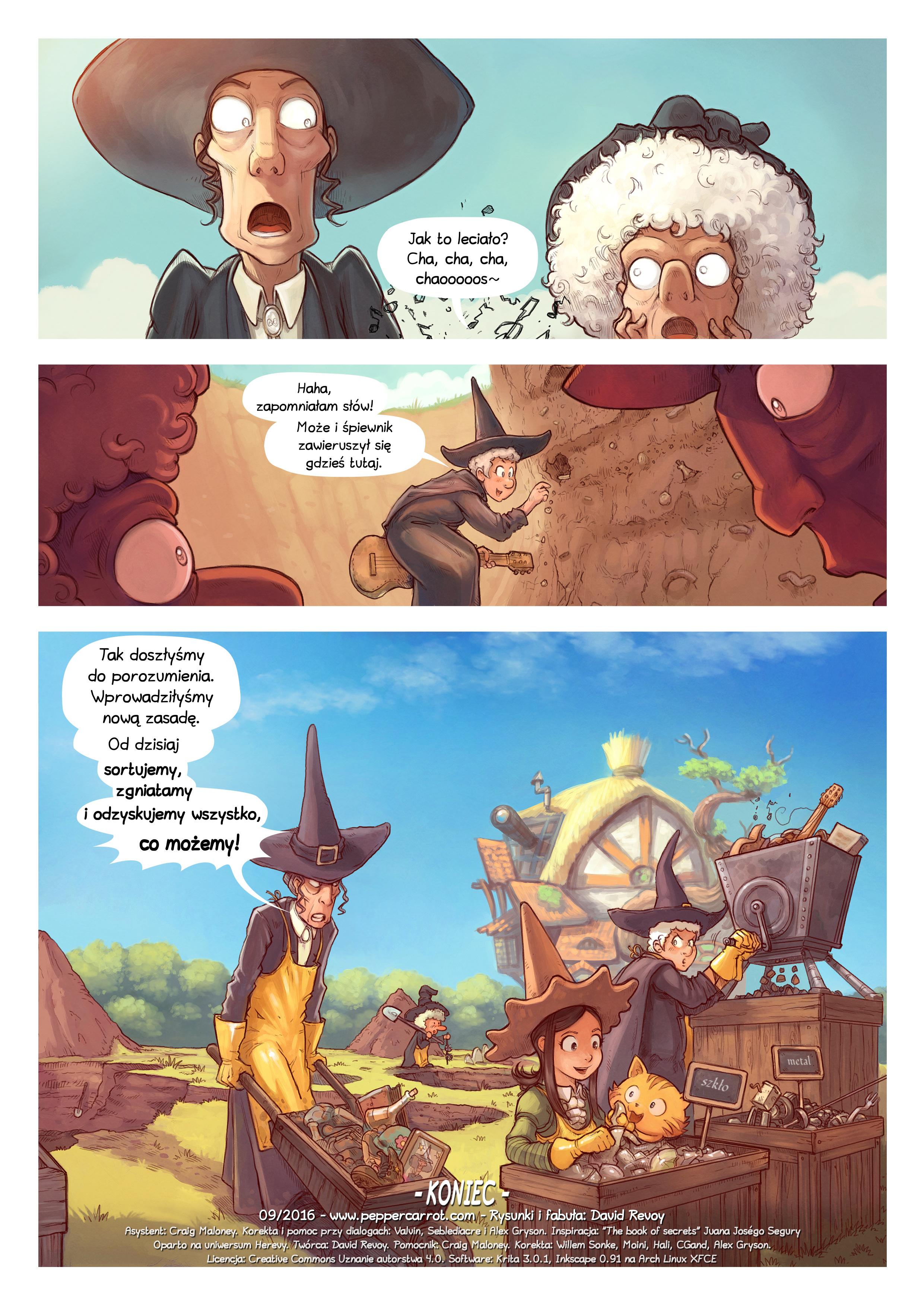 A webcomic page of Pepper&Carrot, odcinek 19 [pl], strona 7