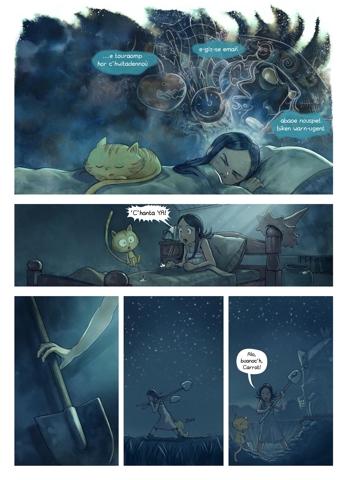 A webcomic page of Pepper&Carrot, rann 19 [br], pajenn 3