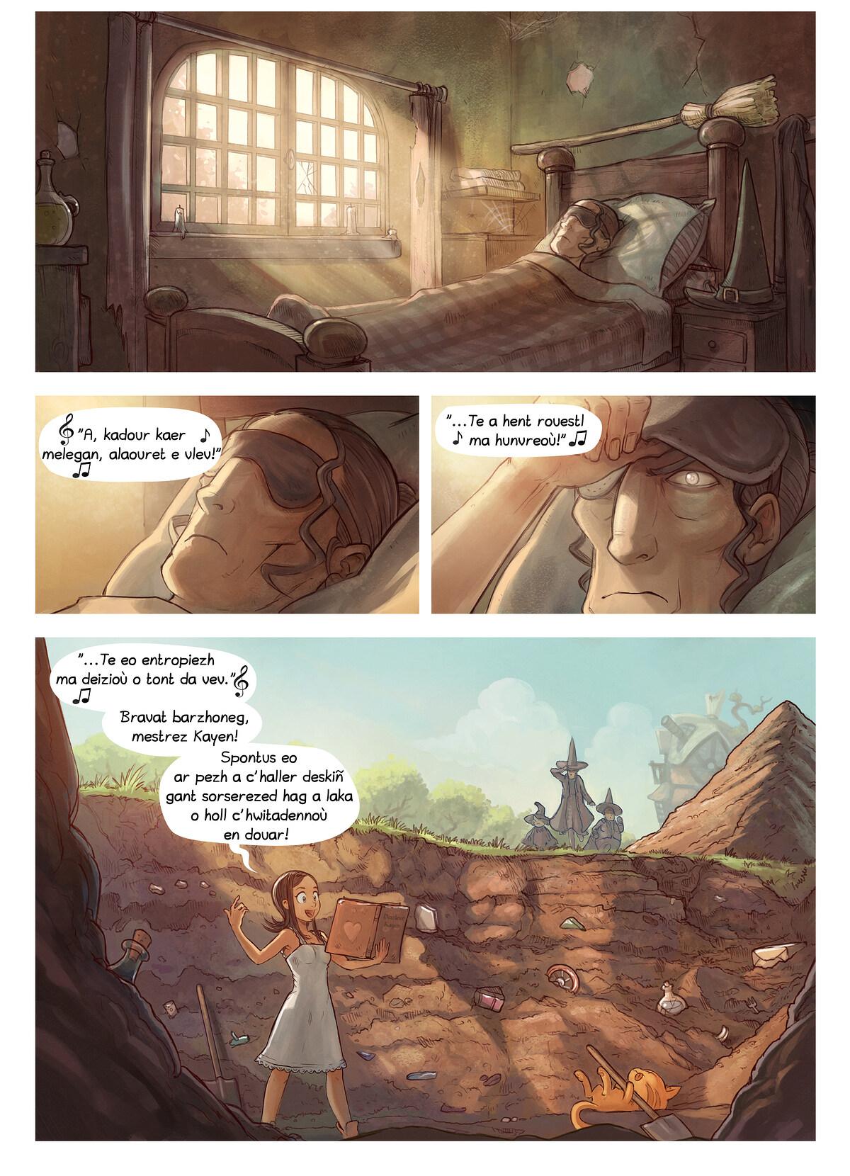 A webcomic page of Pepper&Carrot, rann 19 [br], pajenn 4