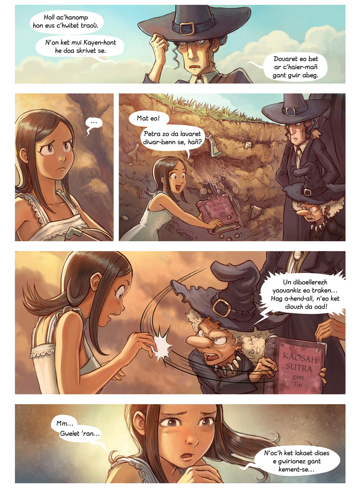 A webcomic page of Pepper&Carrot, rann 19 [br], pajenn 5