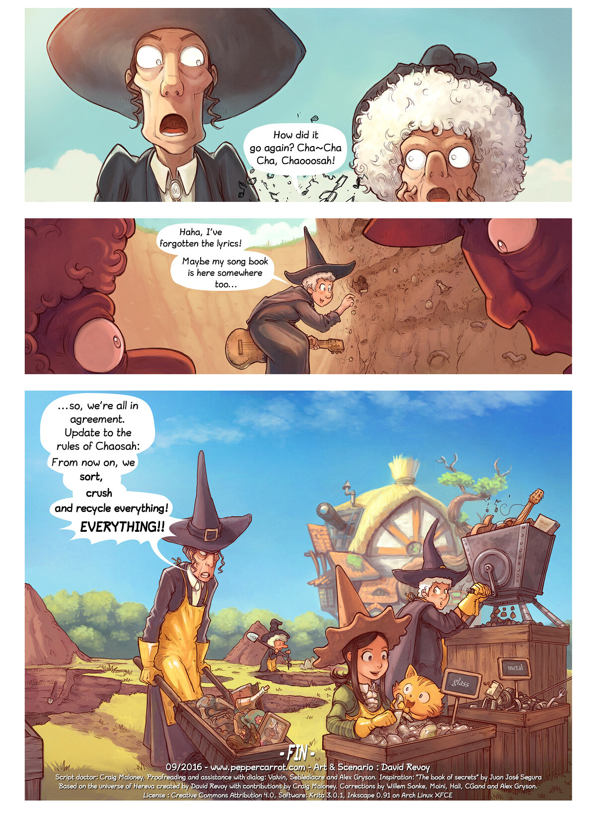 A webcomic page of Pepper&Carrot, Folg 19 [ns], Siet 7
