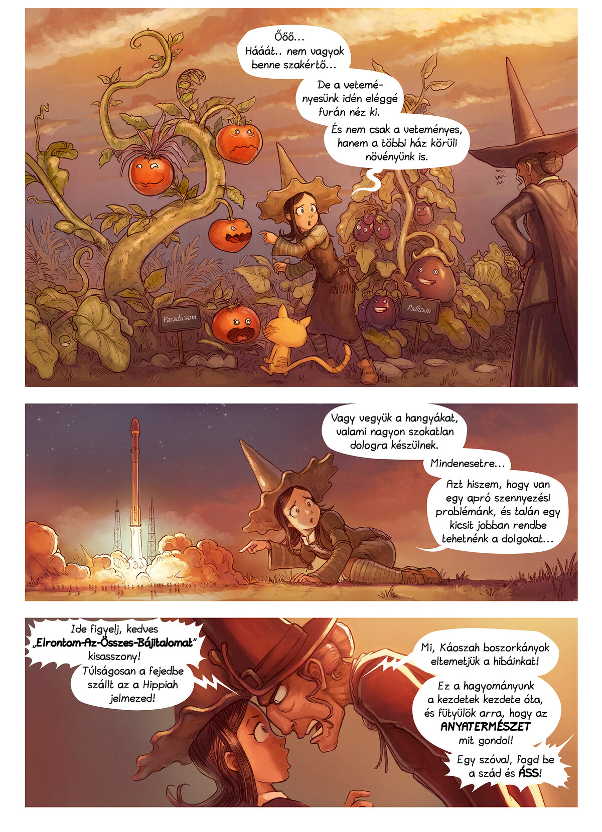 A webcomic page of Pepper&Carrot, epizód 19 [hu], oldal 2