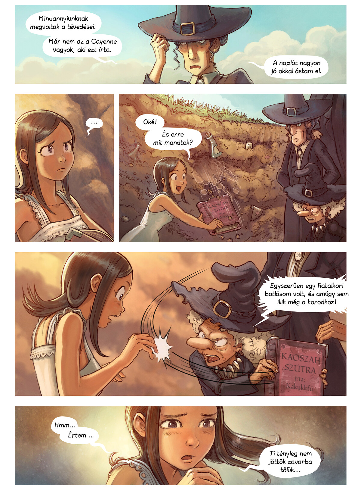 A webcomic page of Pepper&Carrot, epizód 19 [hu], oldal 5