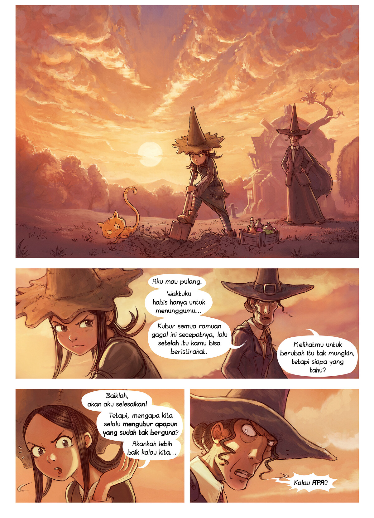 A webcomic page of Pepper&Carrot, episode 19 [id], halaman 1