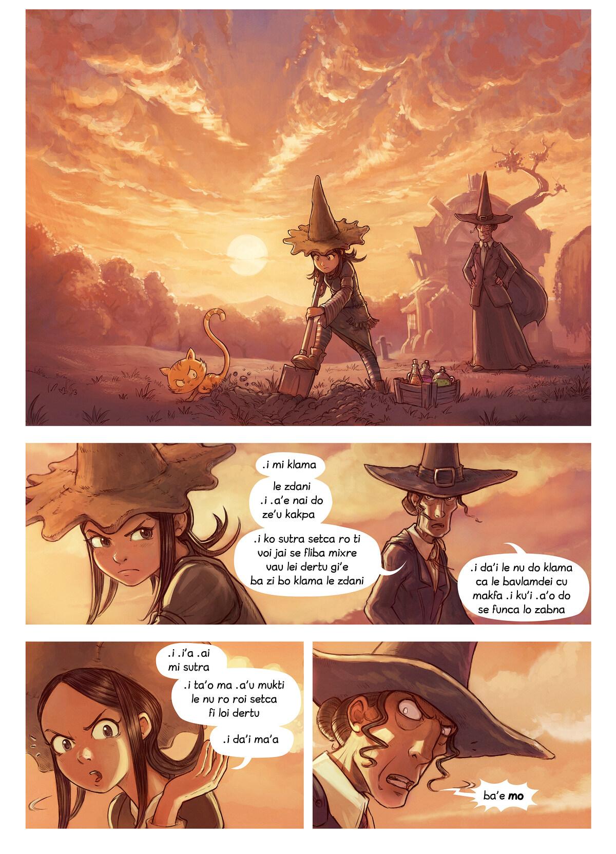 A webcomic page of Pepper&Carrot, pagbu 19 [jb], papri 1