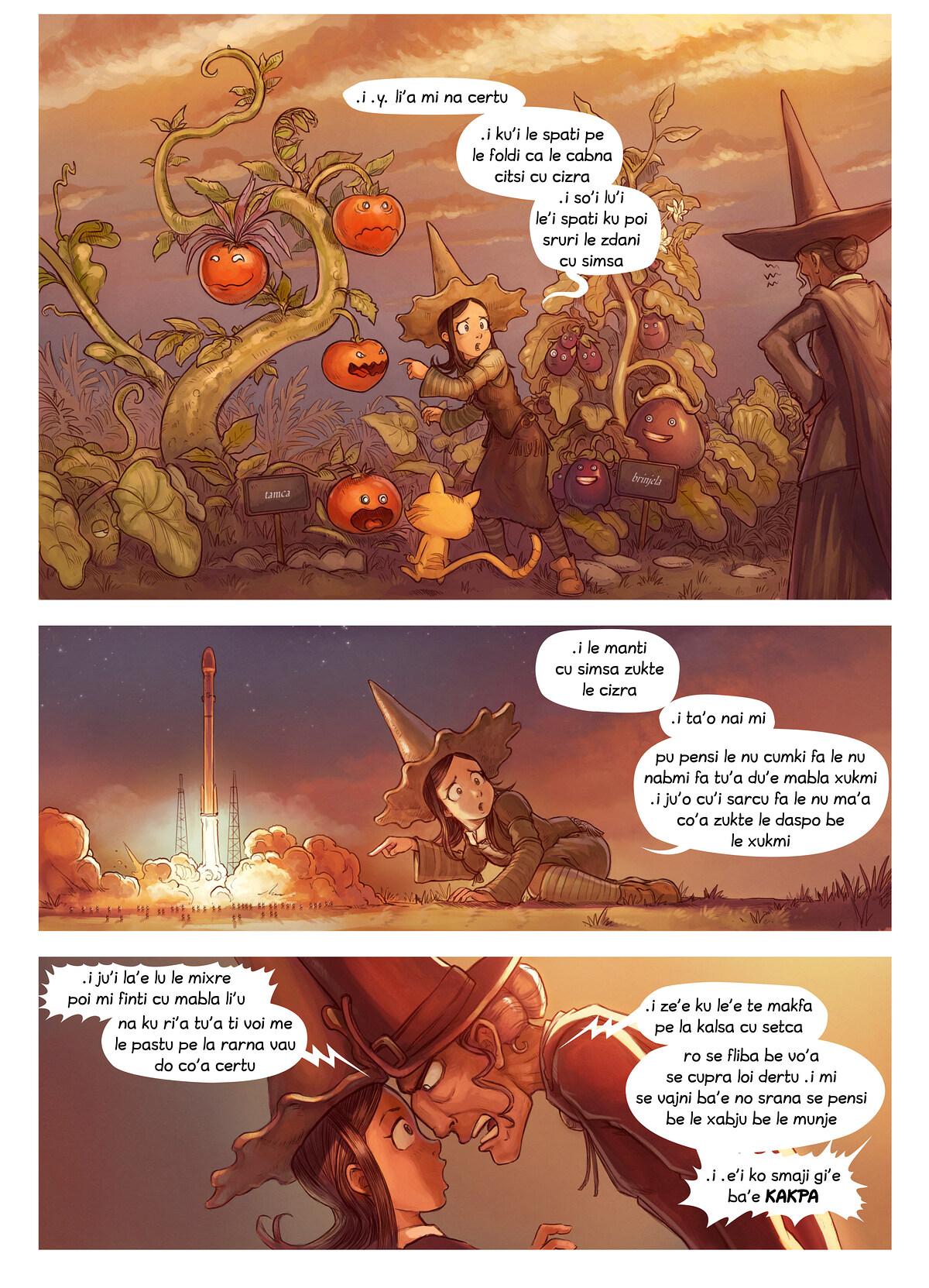 A webcomic page of Pepper&Carrot, pagbu 19 [jb], papri 2