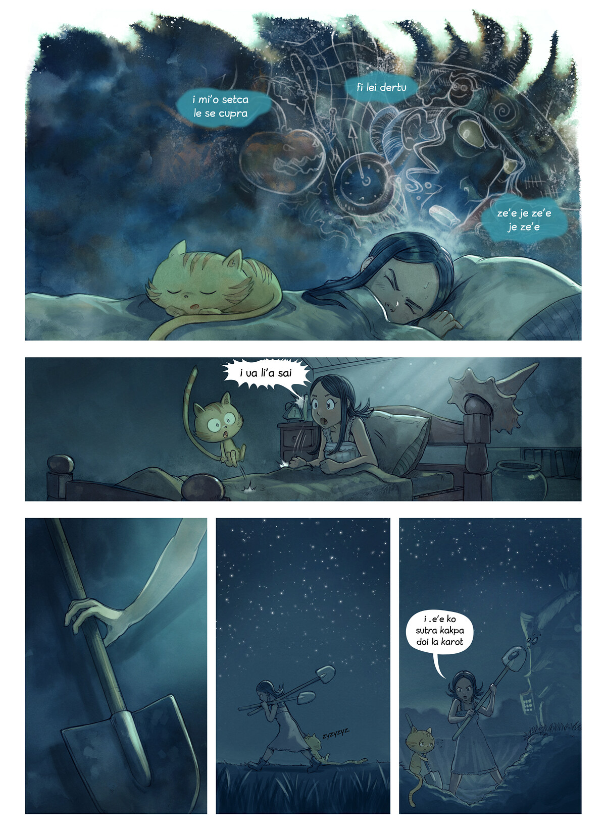 A webcomic page of Pepper&Carrot, pagbu 19 [jb], papri 3