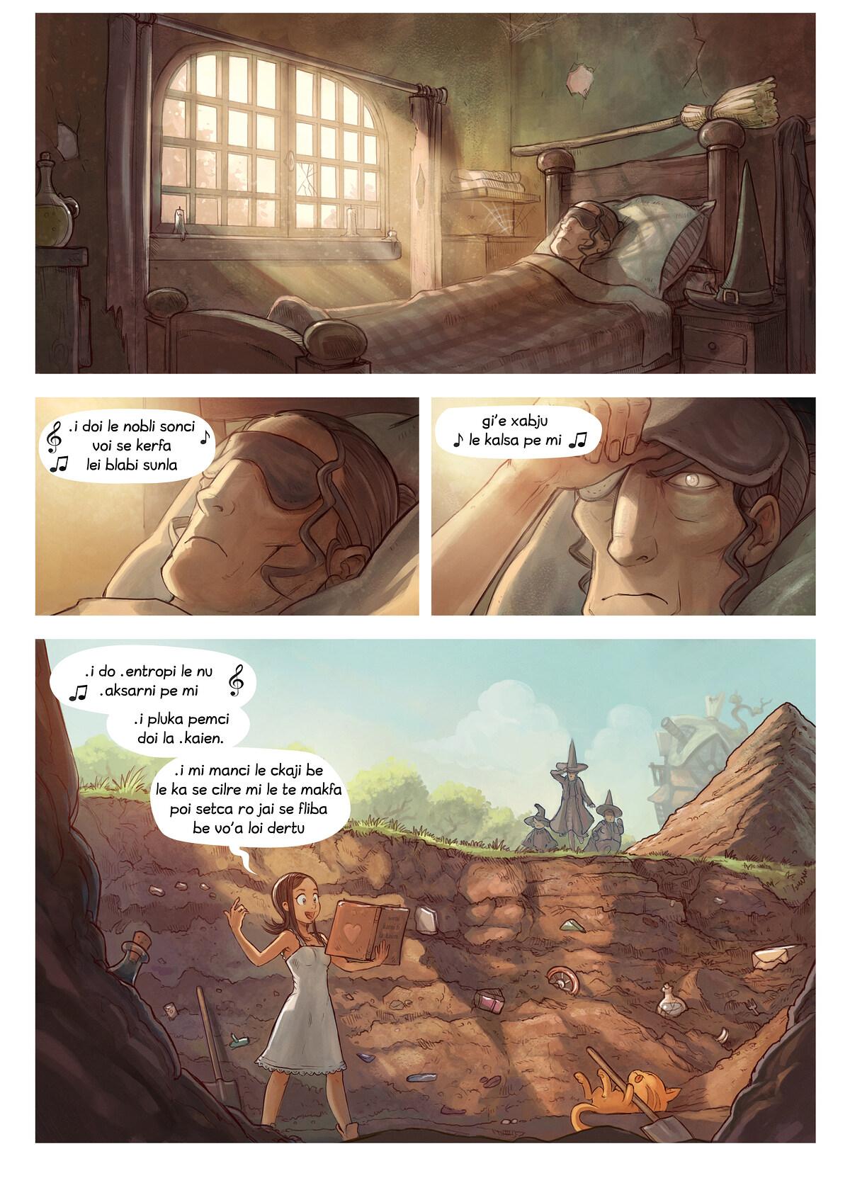 A webcomic page of Pepper&Carrot, pagbu 19 [jb], papri 4