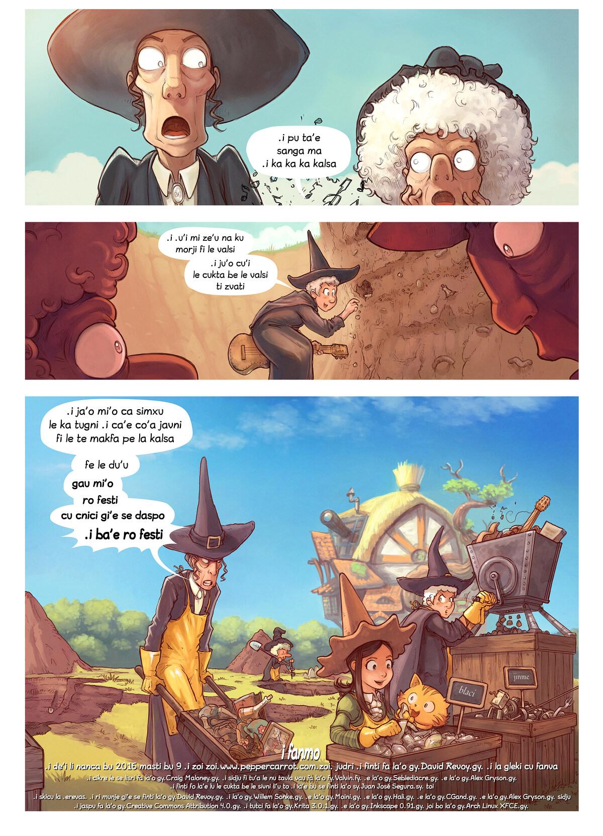 A webcomic page of Pepper&Carrot, pagbu 19 [jb], papri 7
