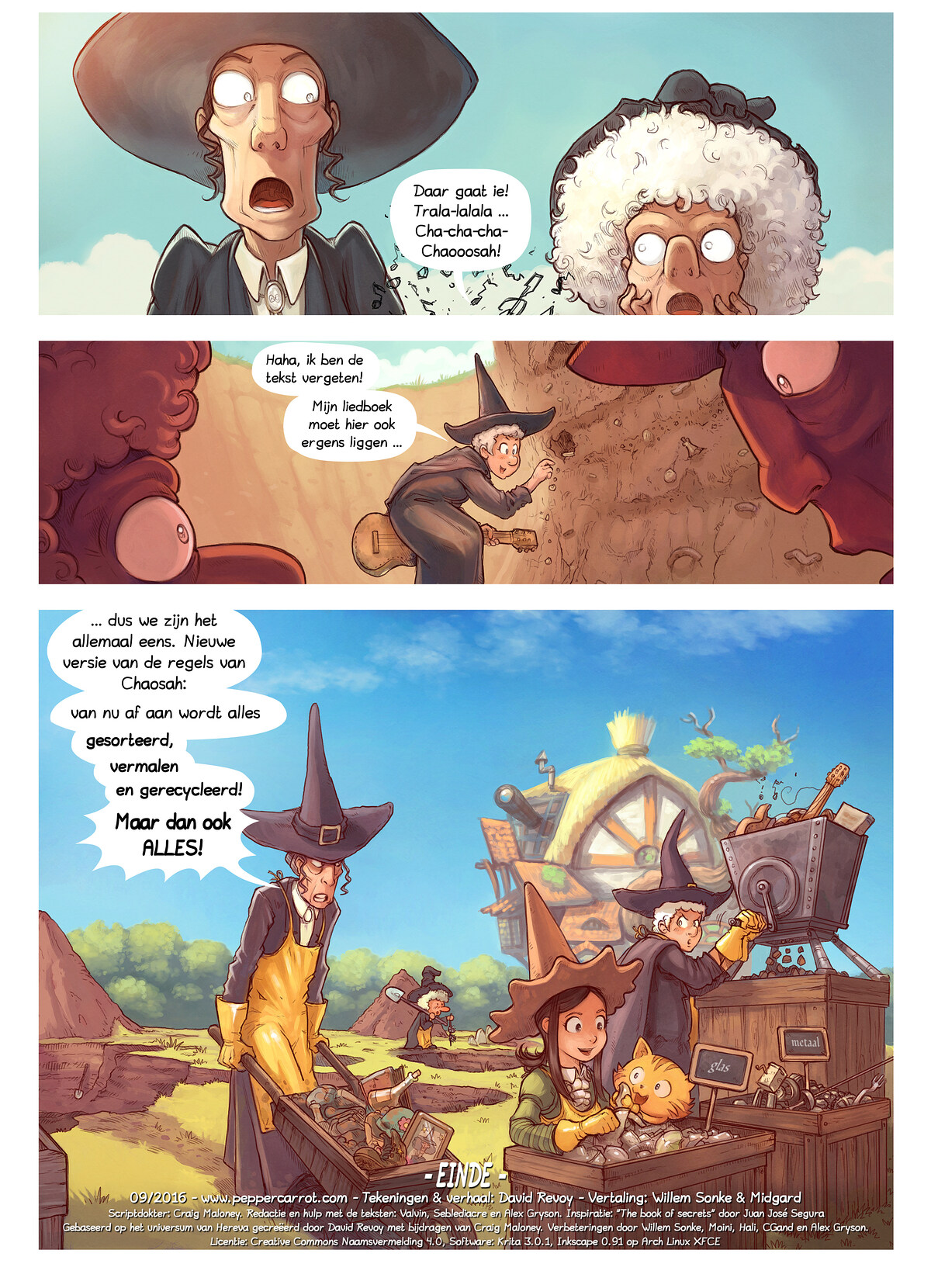 A webcomic page of Pepper&Carrot, aflevering 19 [nl], pagina 7