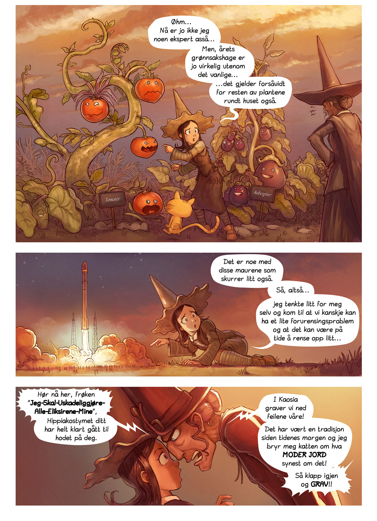 A webcomic page of Pepper&Carrot, episode 19 [no], side 2