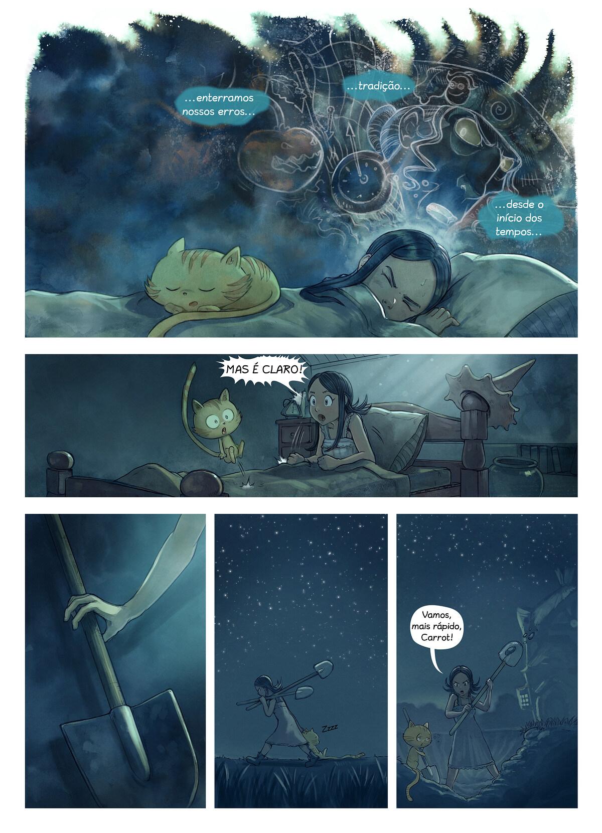 A webcomic page of Pepper&Carrot, episódio 19 [pt], página 3