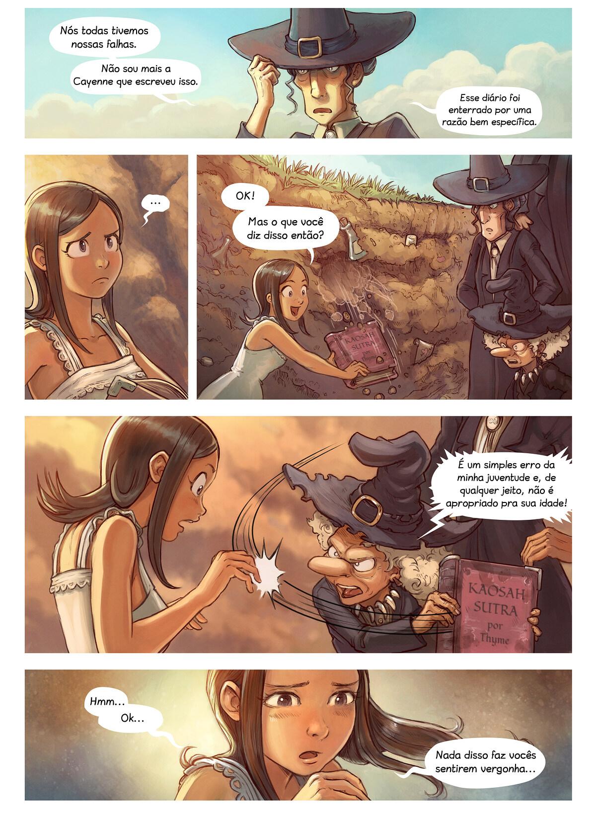 A webcomic page of Pepper&Carrot, episódio 19 [pt], página 5
