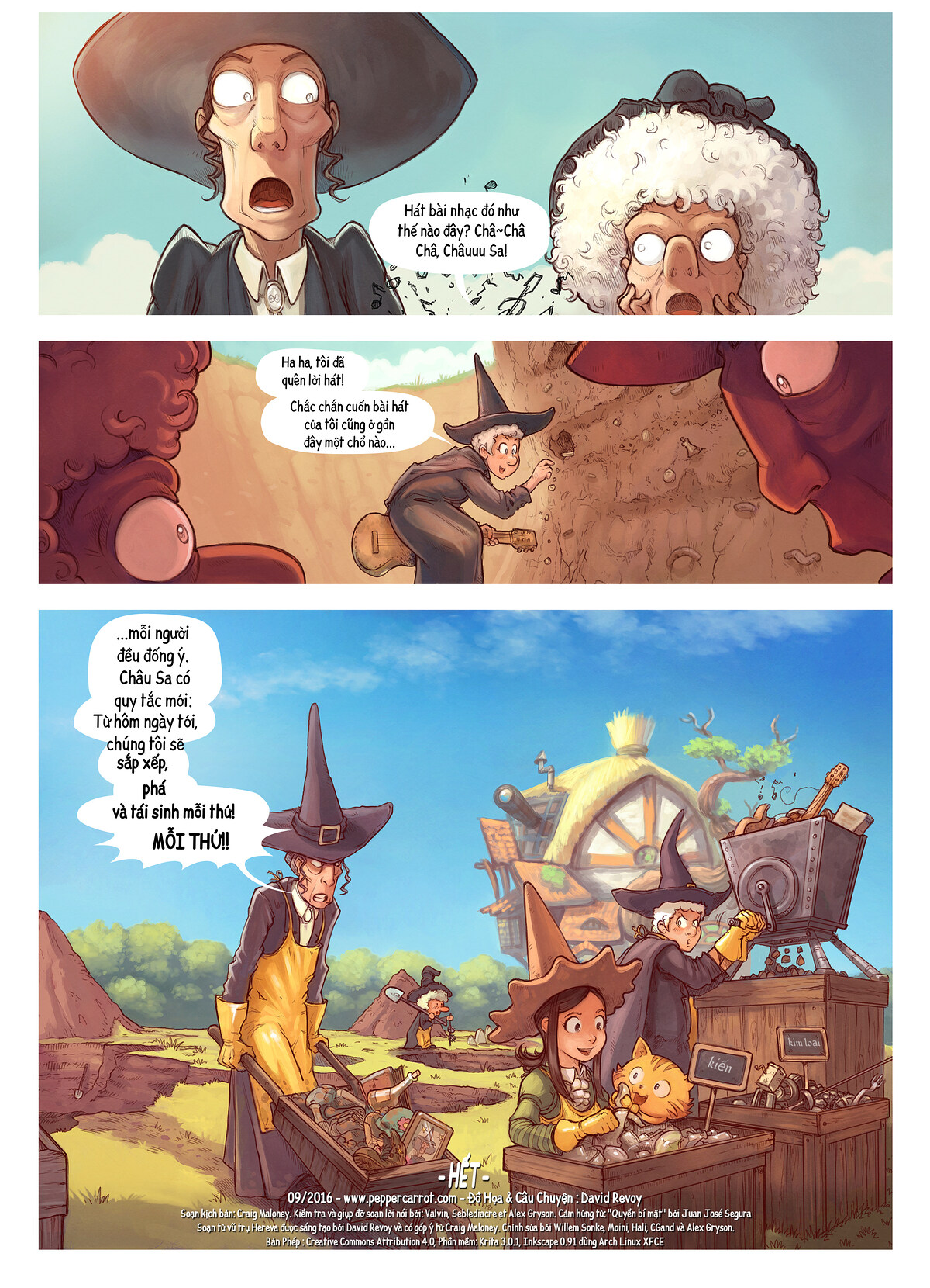 A webcomic page of Pepper&Carrot, Tập 19 [vi], trang 7