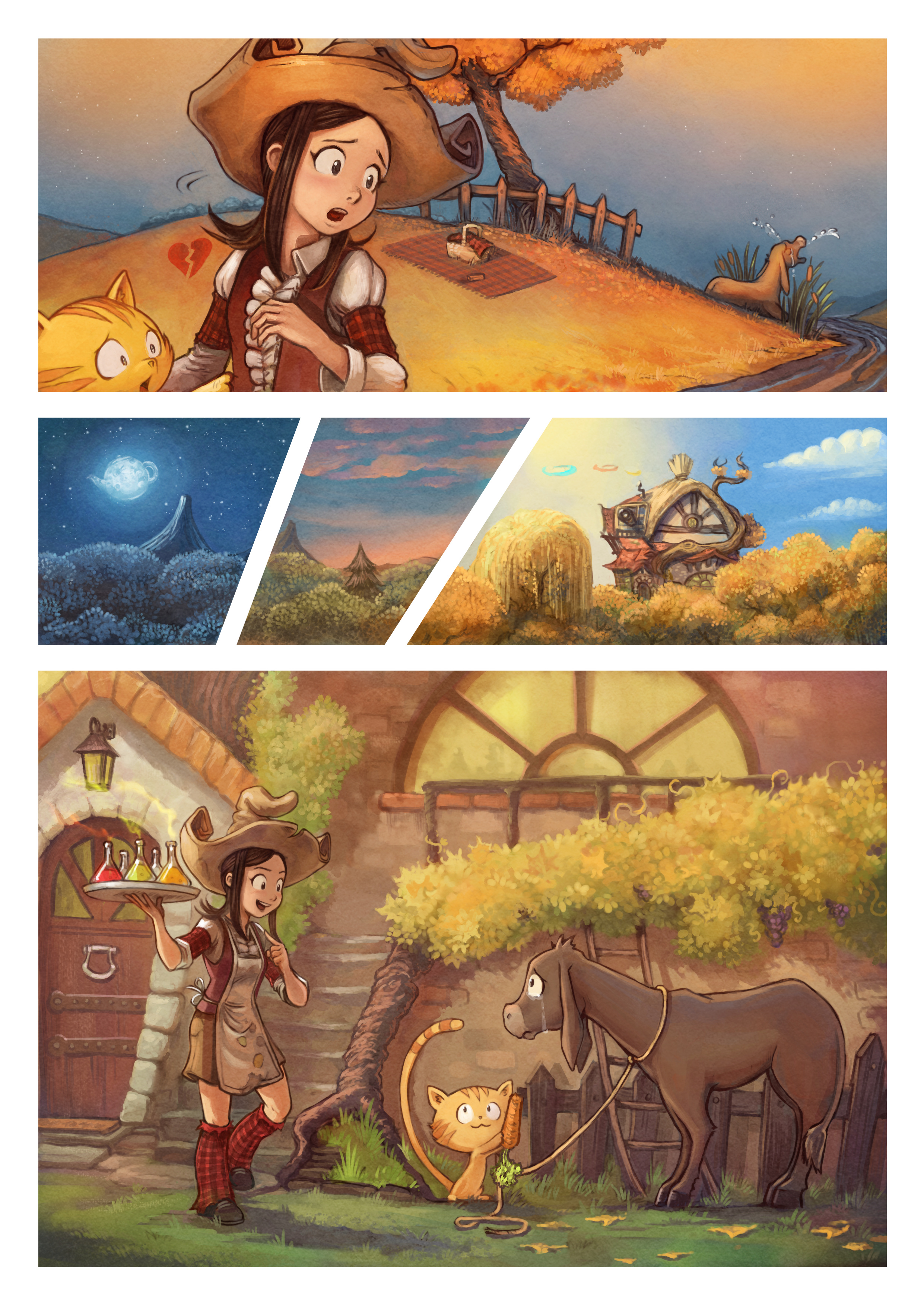 A webcomic page of Pepper&Carrot, aflevering 20 [nl], pagina 3
